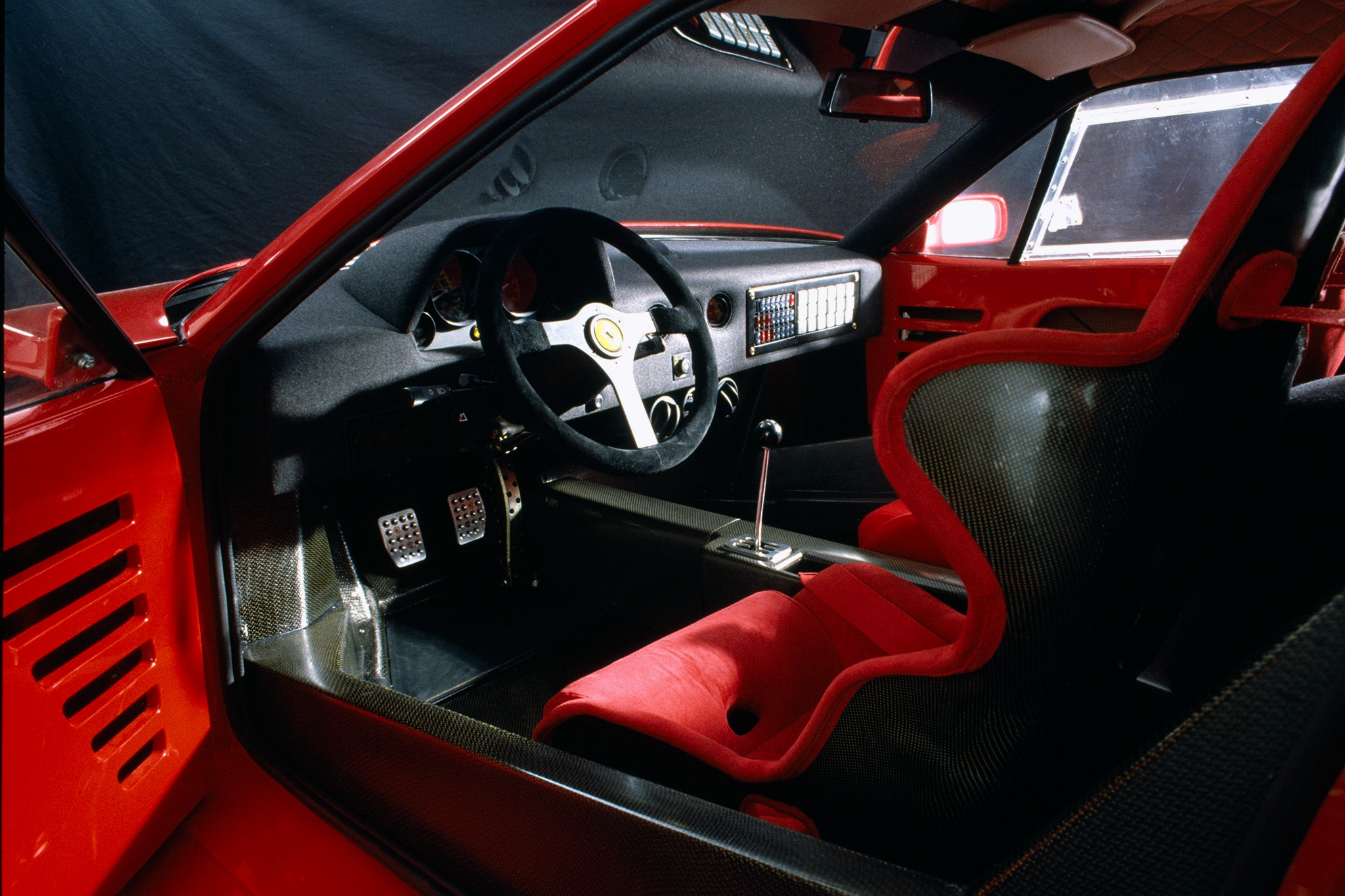 1987-Ferrari-F40-Interior Remarkable Ferrari Mondial Rear Window Motor Cars Trend