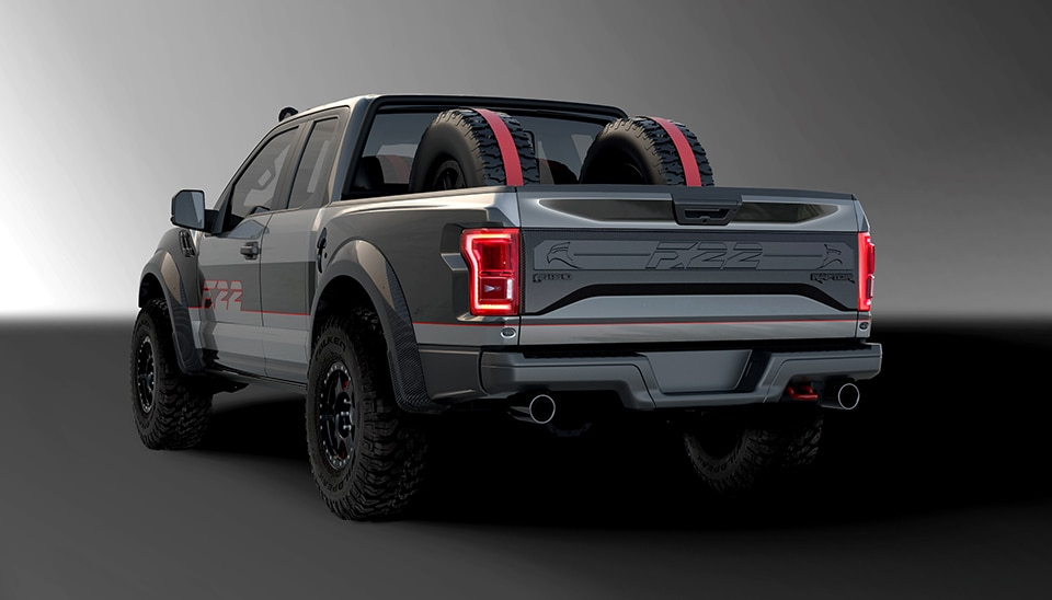 2017 Ford F 22 Raptor Rear 3 4 View