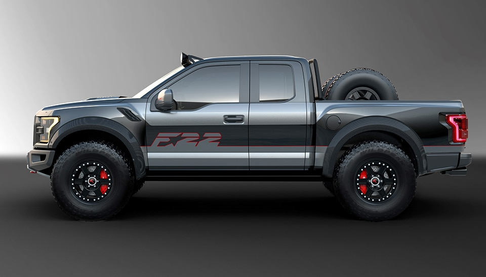 2017 Ford F 22 Raptor Side View