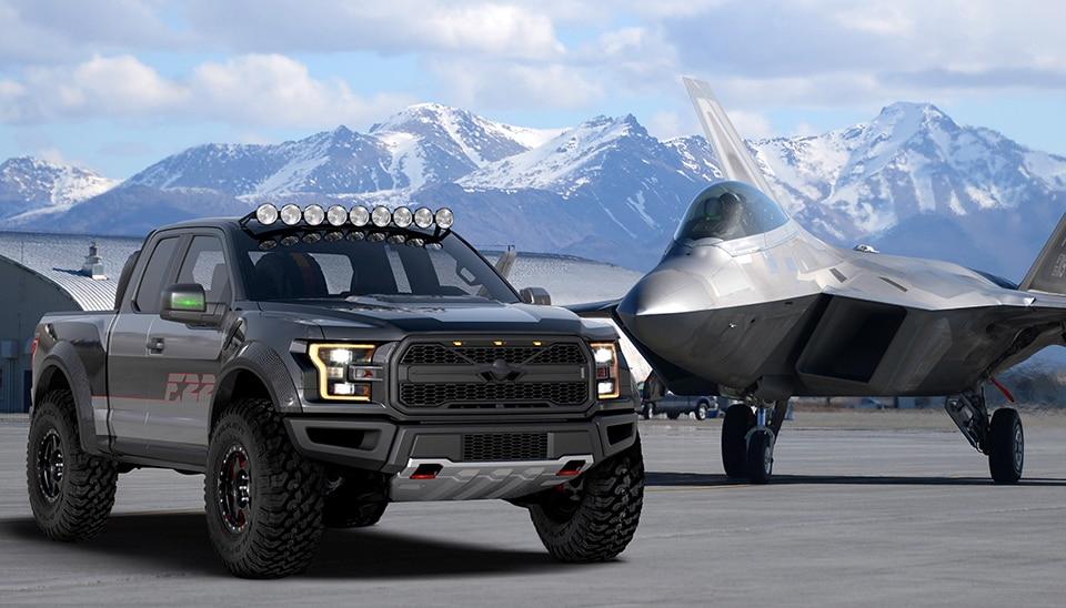 2017 Ford F 22 Raptor With F 22 Jet