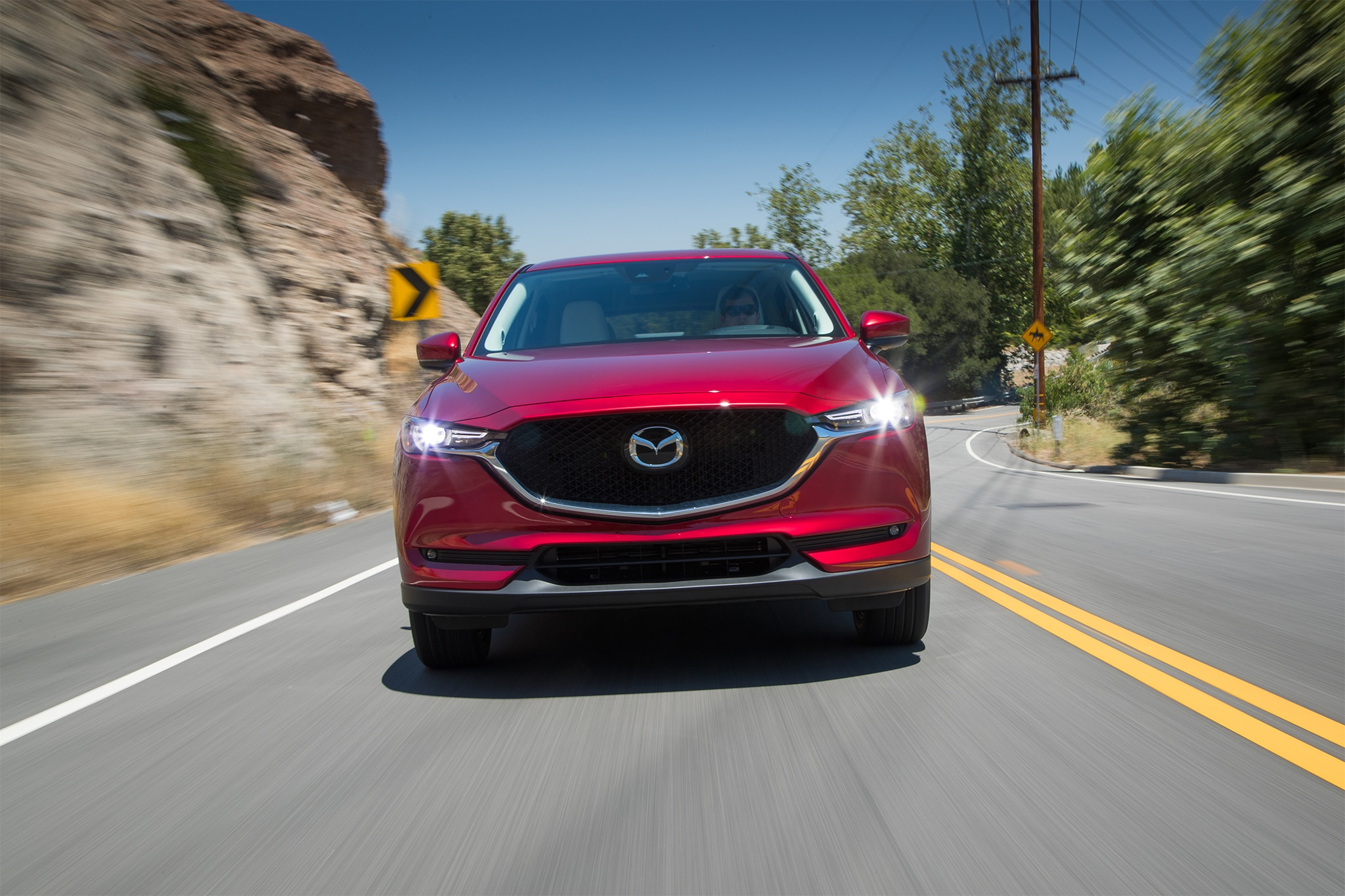 2017 Mazda CX 5 Grand Touring Front View In Motion 03