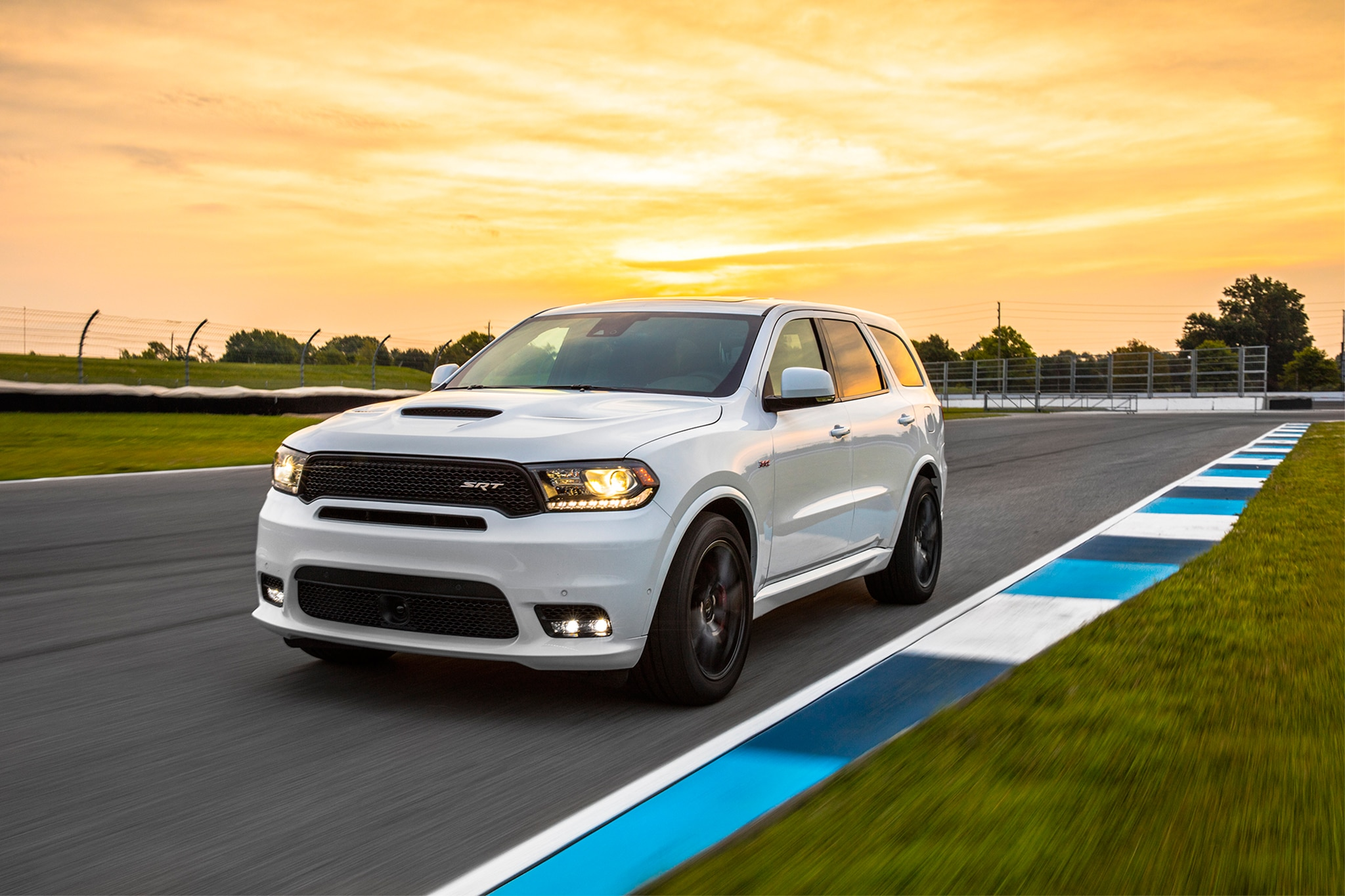 2018 Dodge Durango SRT Front Three Quarter In Motion 04 1