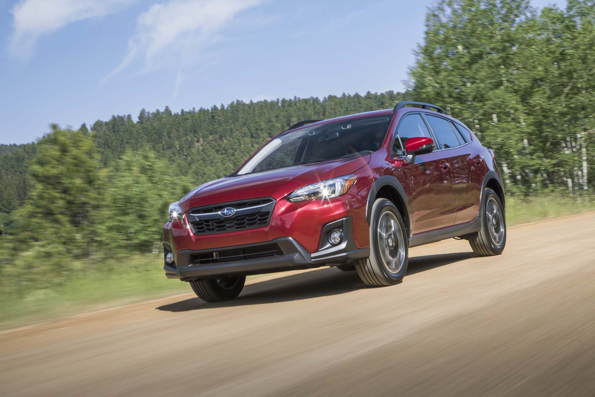 2018 Subaru Crosstrek Front Three Quarter In Motion 05 3