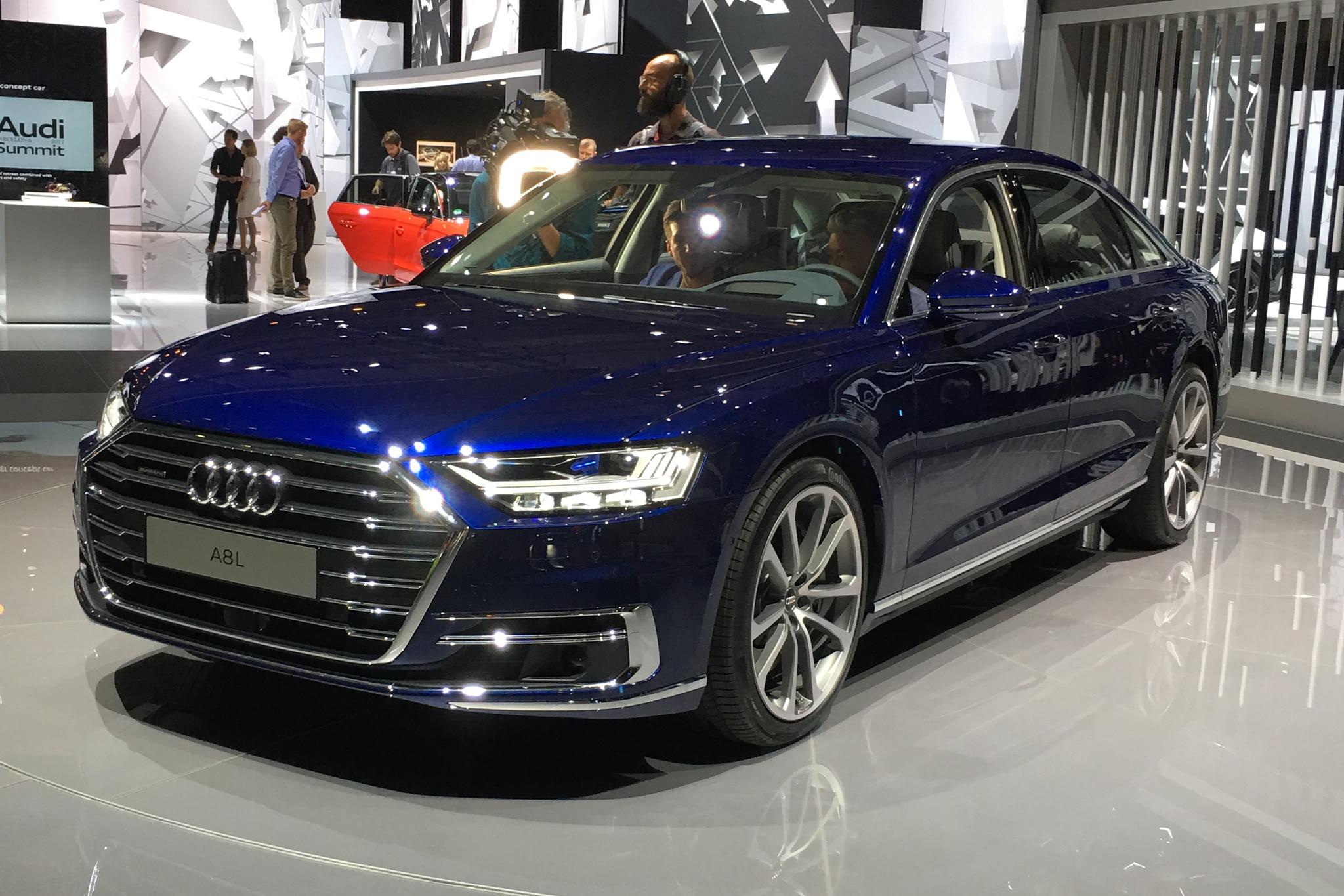2019 audi a8 rolls in ready to drive itself automobile magazine. Black Bedroom Furniture Sets. Home Design Ideas