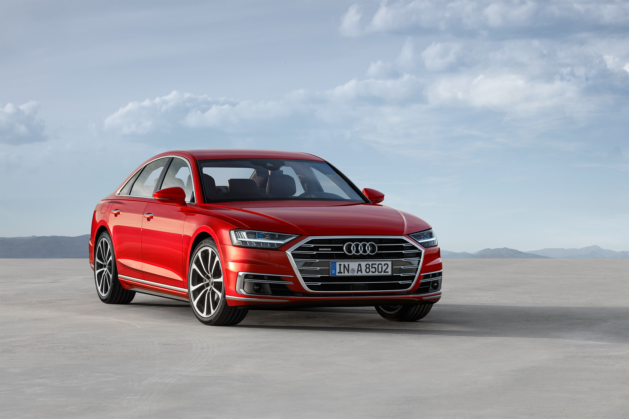 2019 Audi A8 Front Three Quarter 03