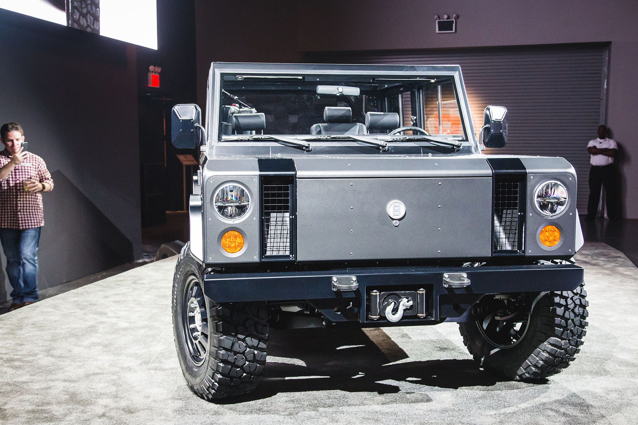 Bollinger motors reveals the custom built b1 all electric for M i motors