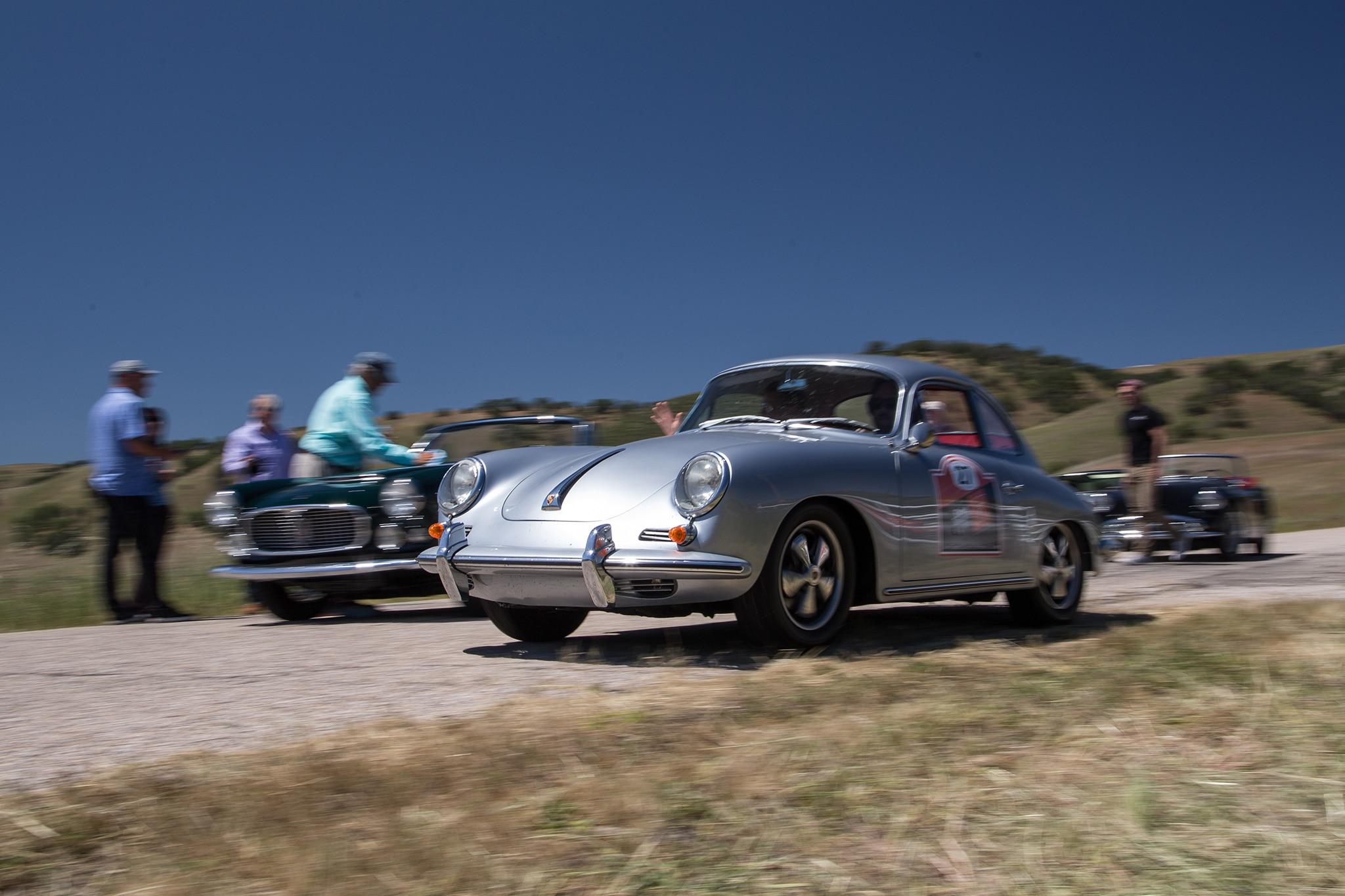 1964 Porsche 356 C Front Three Quarter In Motion 05