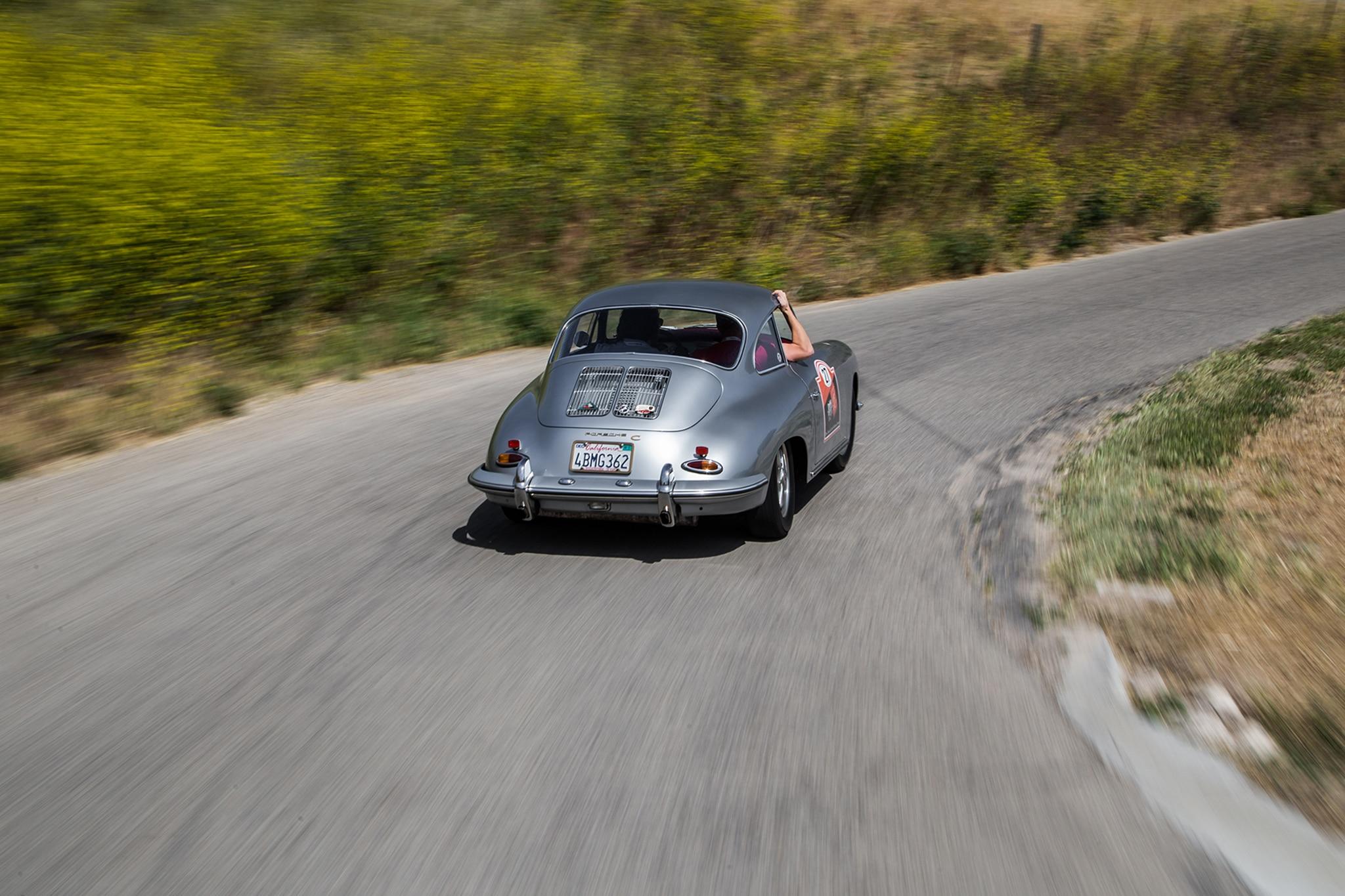 1964 Porsche 356 C Rear Three Quarter In Motion 02