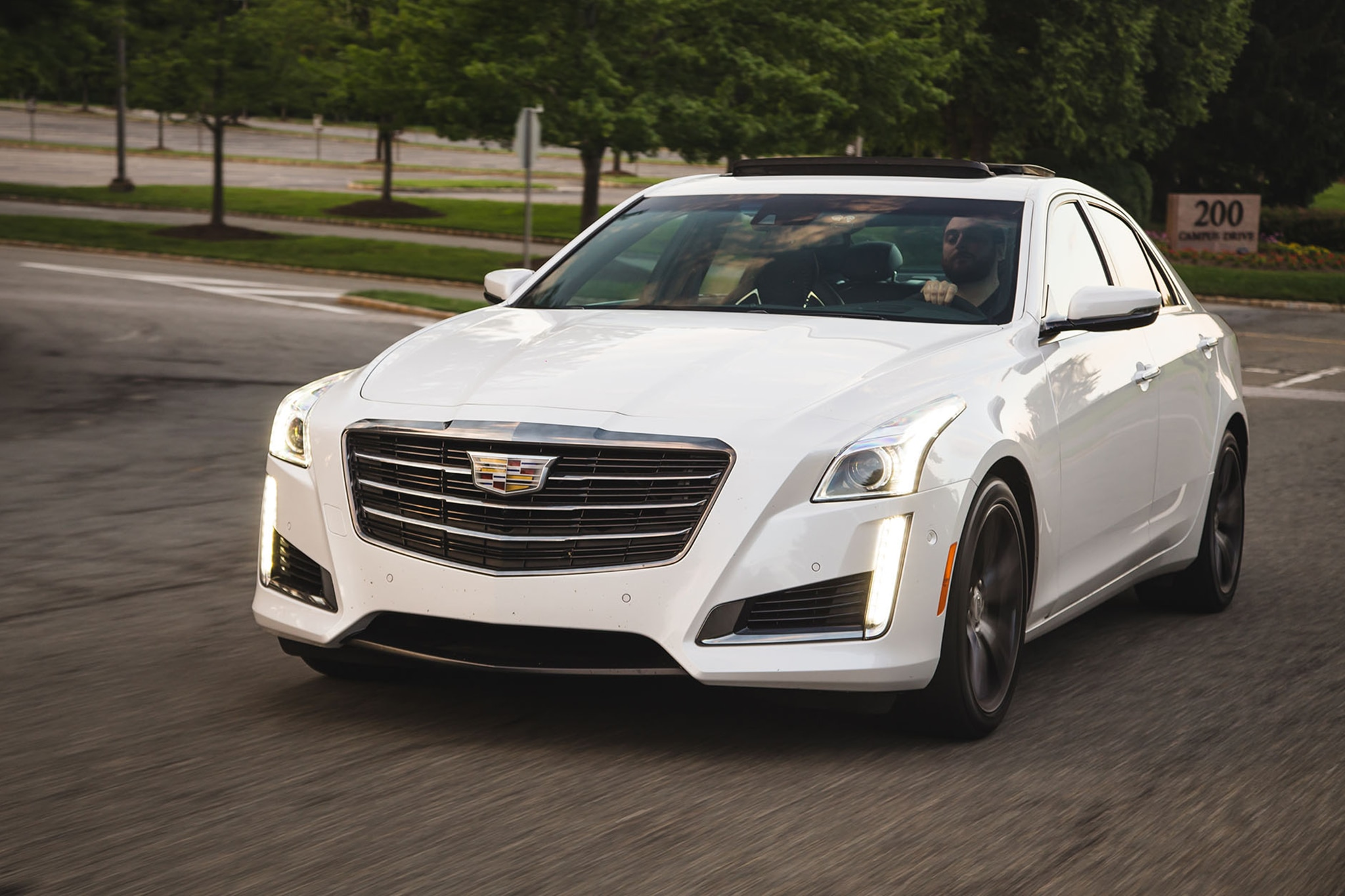 2017 Cadillac CTS Vsport Front Three Quarter In Motion 02