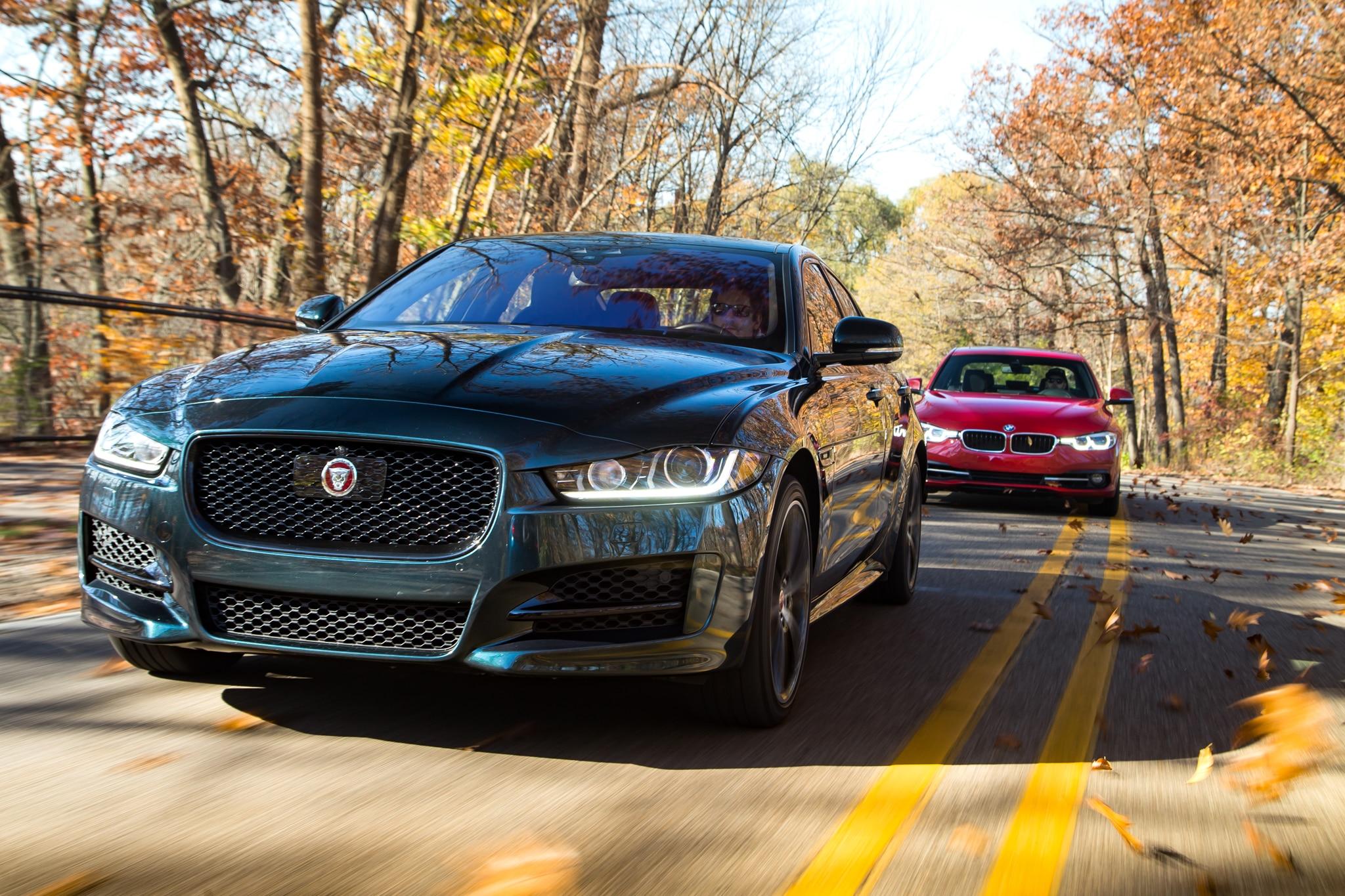 2017 Jaguar XE 35t R Sport VS 2016 BMW 340i 01