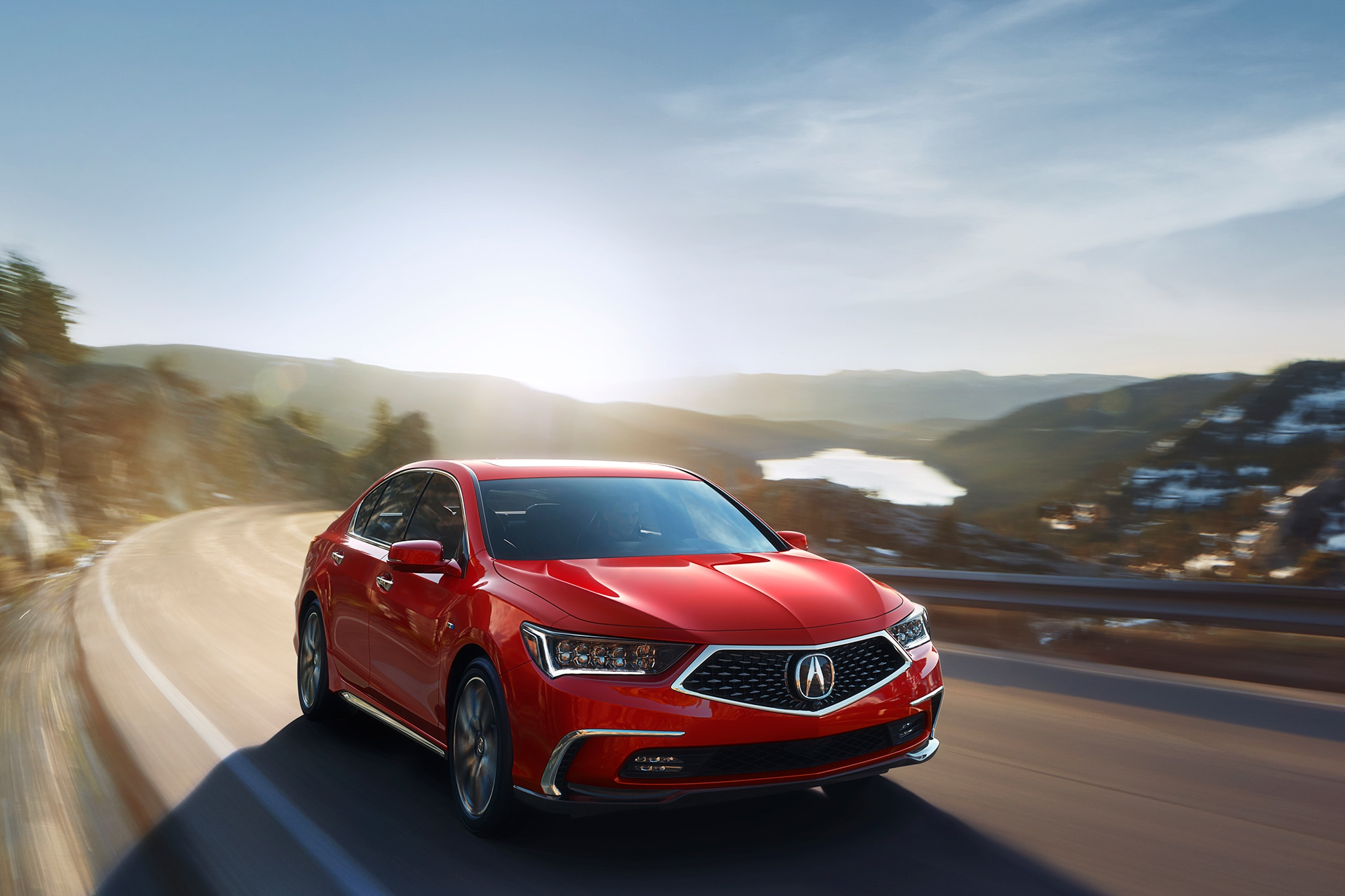 2018 Acura RLX Sport Hybrid Front Three Quarter In Motion