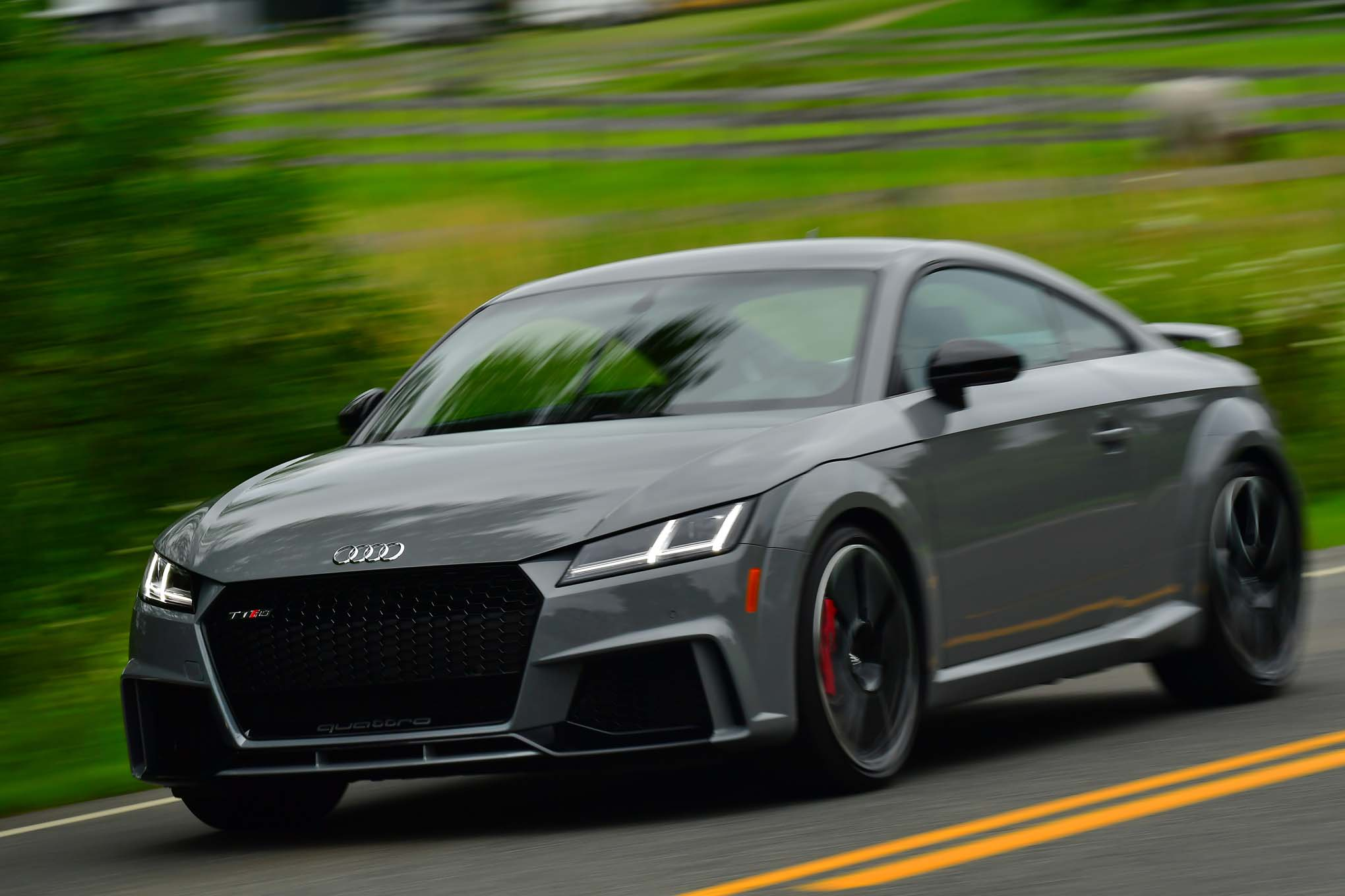 2018 Audi TT RS Front Three Quarter In Motion 03