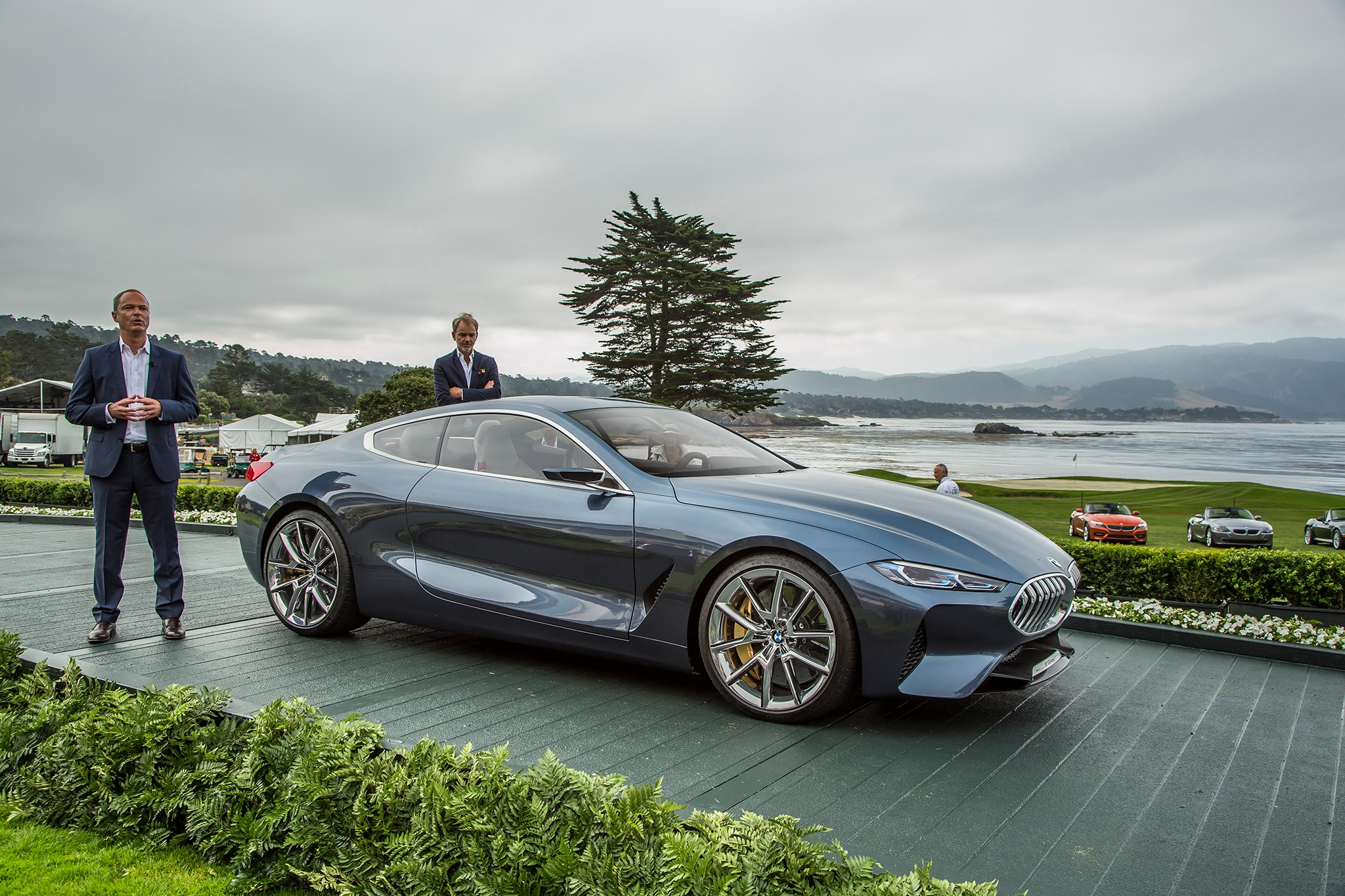 BMW Concept 8 Pebble Beach Front Three Quarters