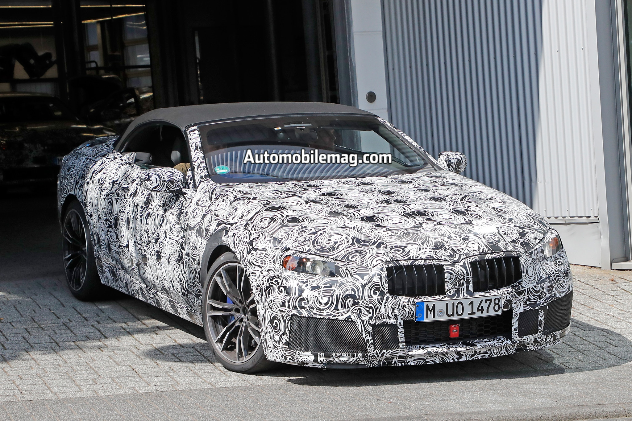 BMW M8 Convertible Spied Testing 01