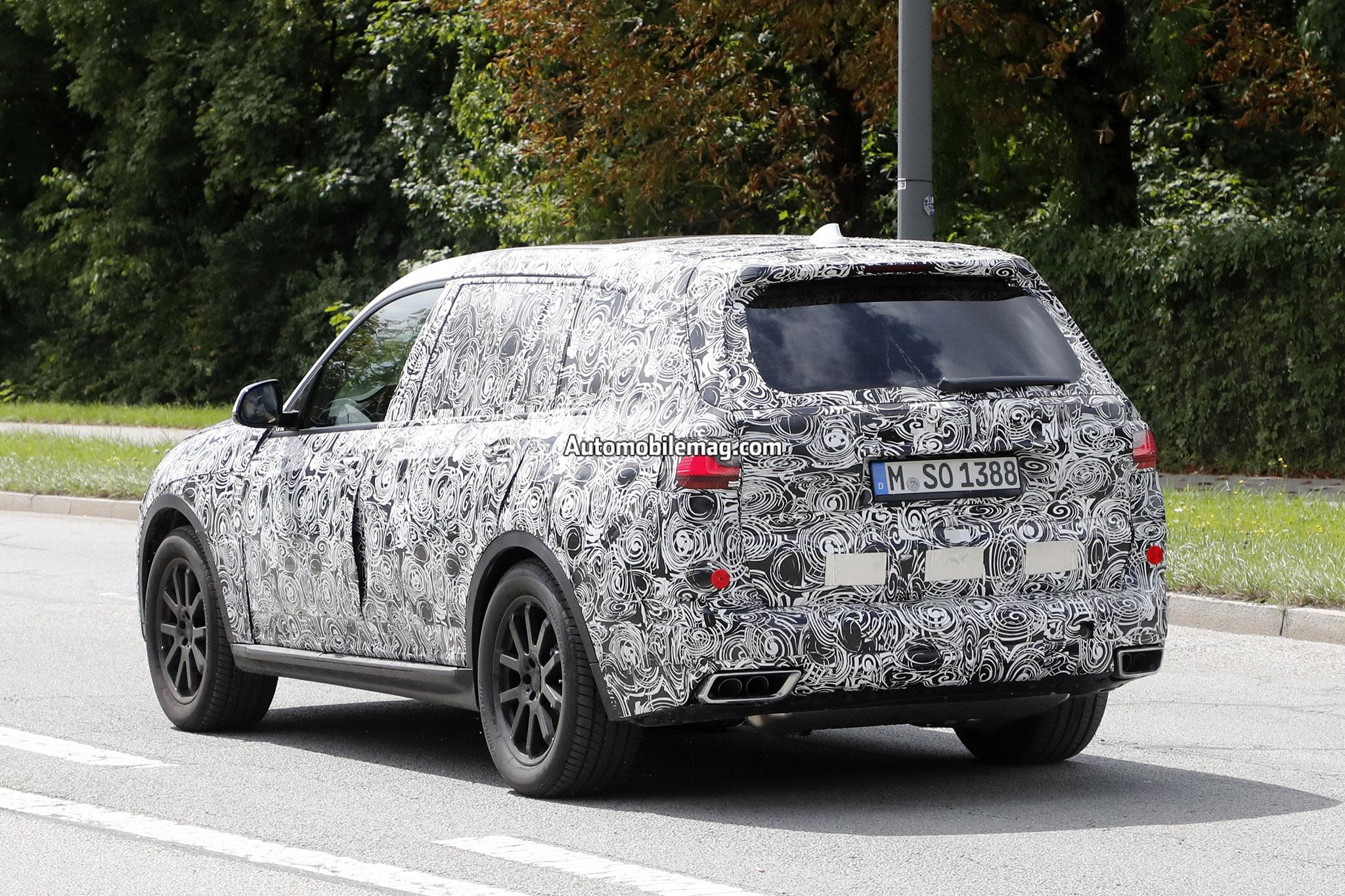 BMW X7 Prototype Shows Off Production Lights  Automobile Magazine