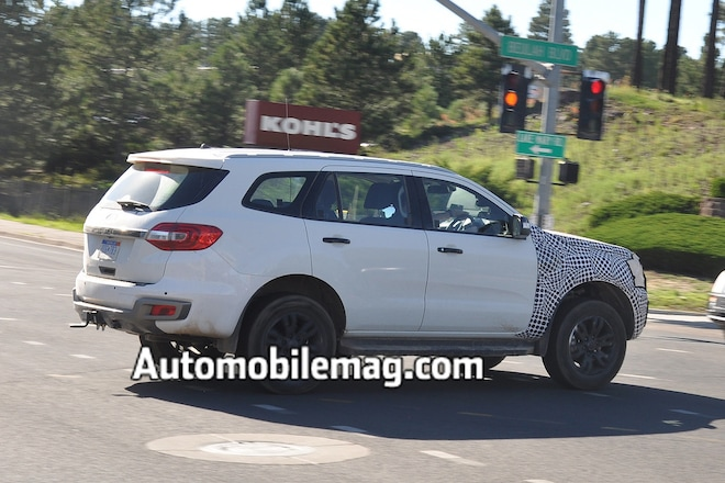 2017 Ford Explorer Mpg >> Bronc-No! Possible 2020 Ford Bronco Mule Spied in Michigan | Automobile Magazine