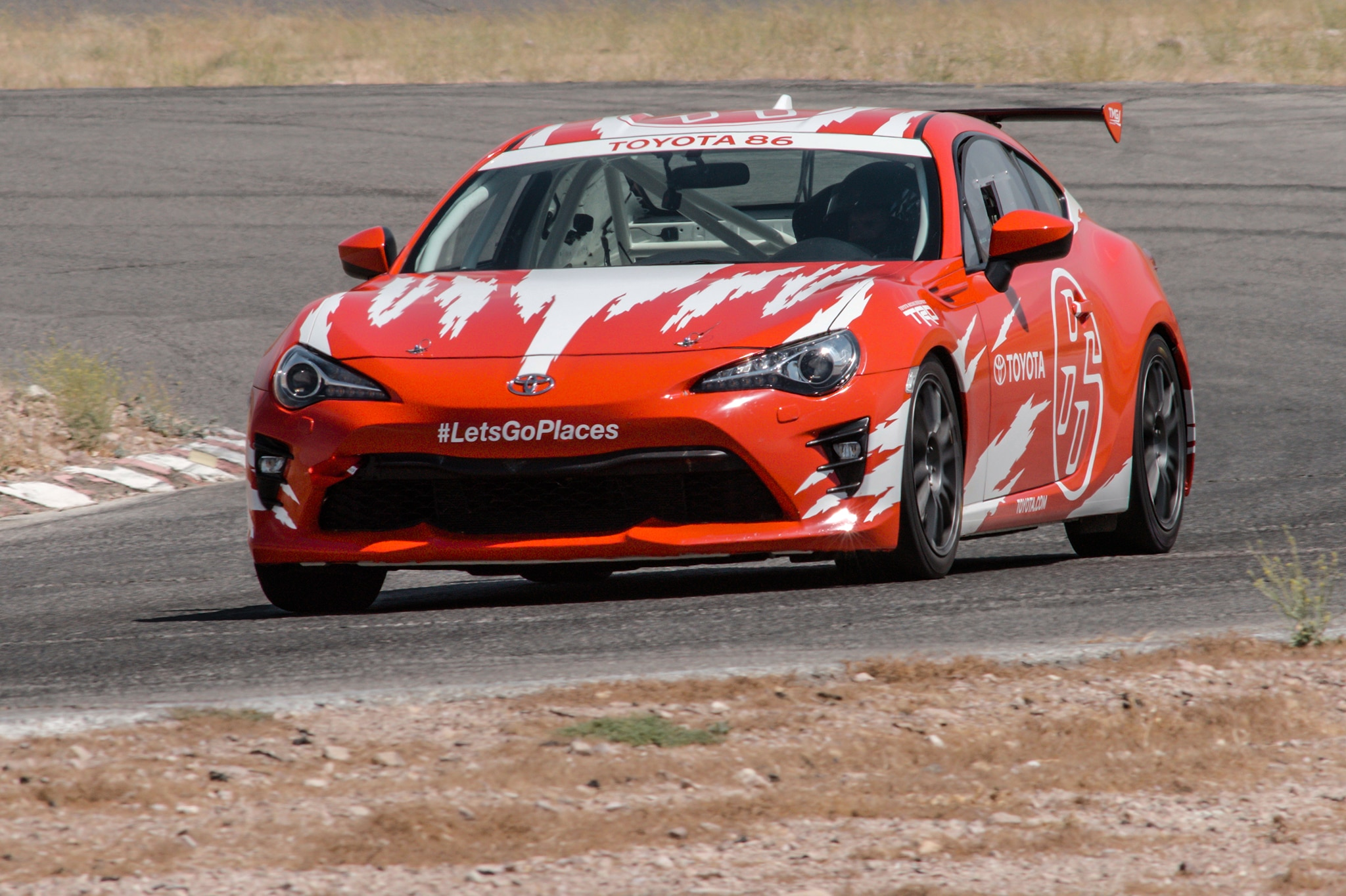 Toyota TMG 86 Cup Car Front Three Quarter In Motion 03