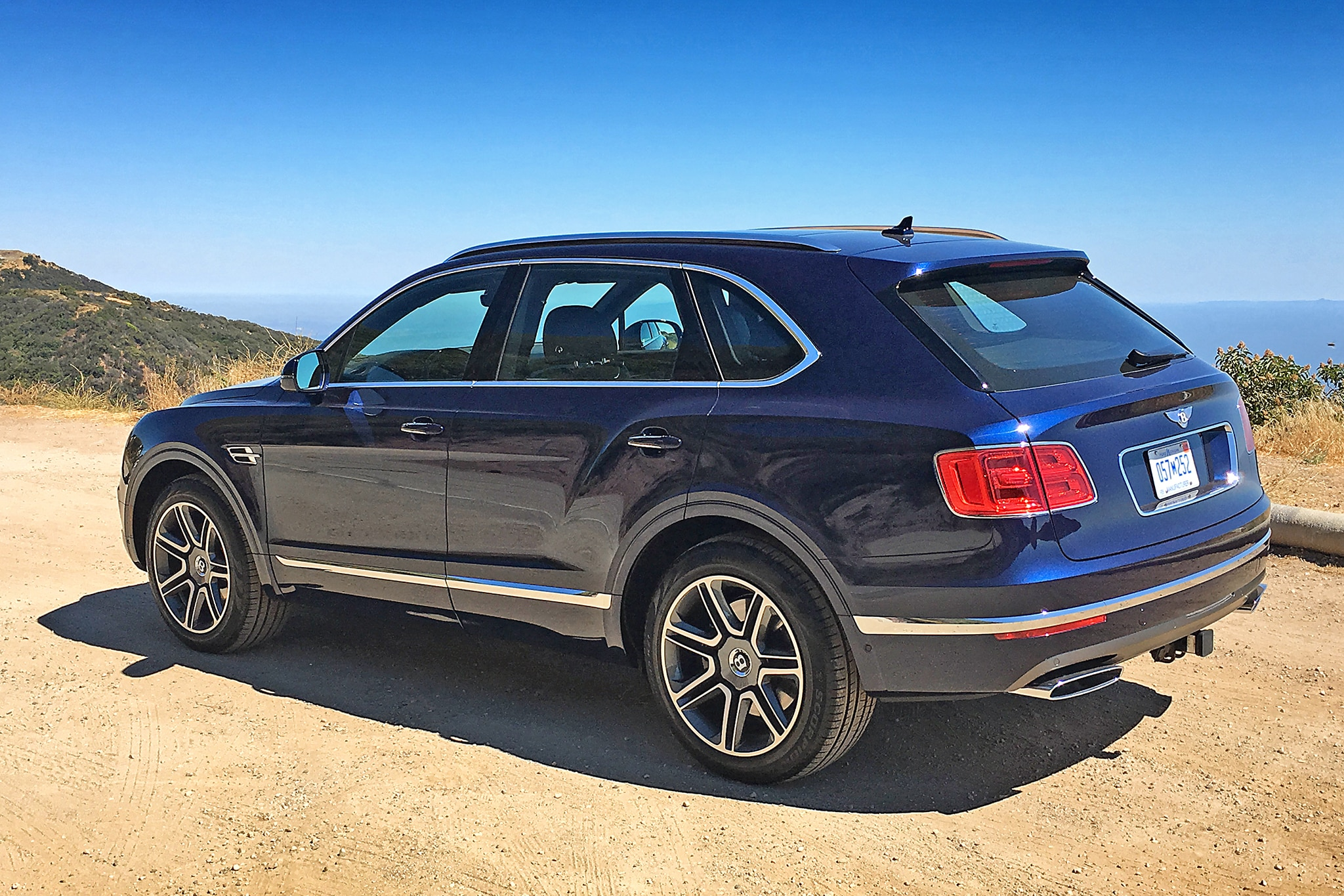 2017 Bentley Bentayga Rear Three Quarter 01