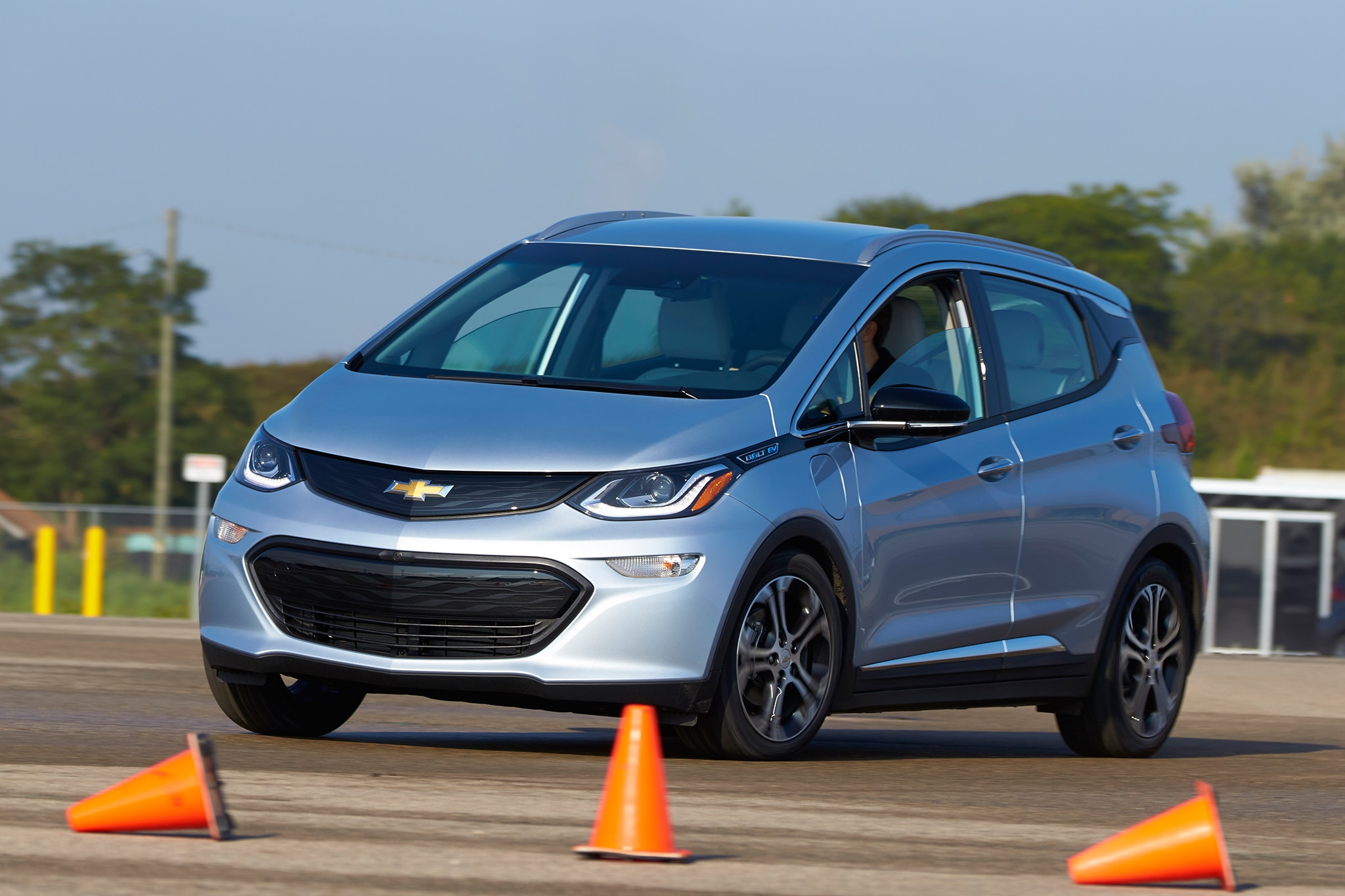 2017 Chevrolet Bolt EV Front Three Quarter In Motion 01