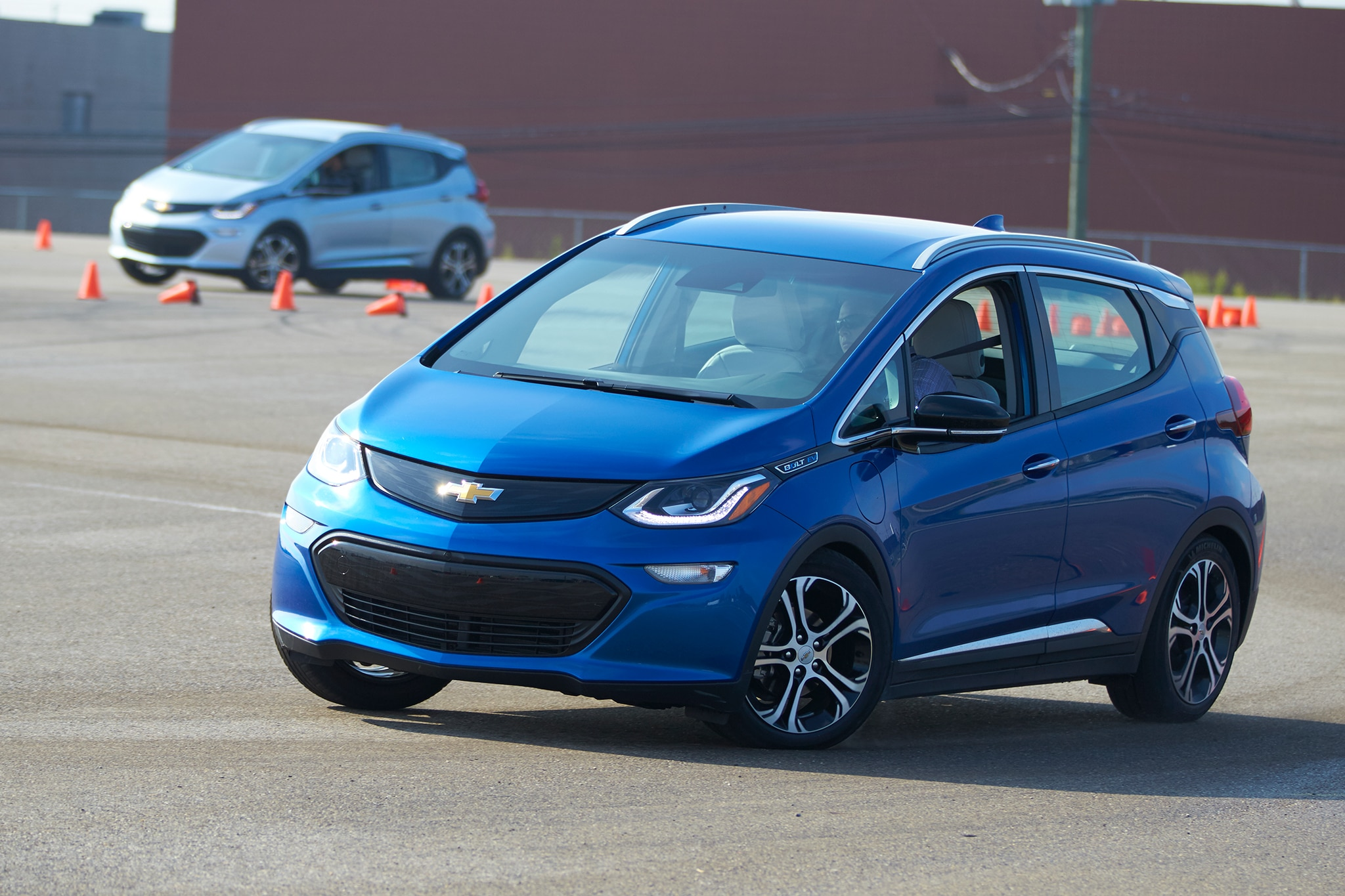 2017 Chevrolet Bolt EV Front Three Quarter In Motion 03