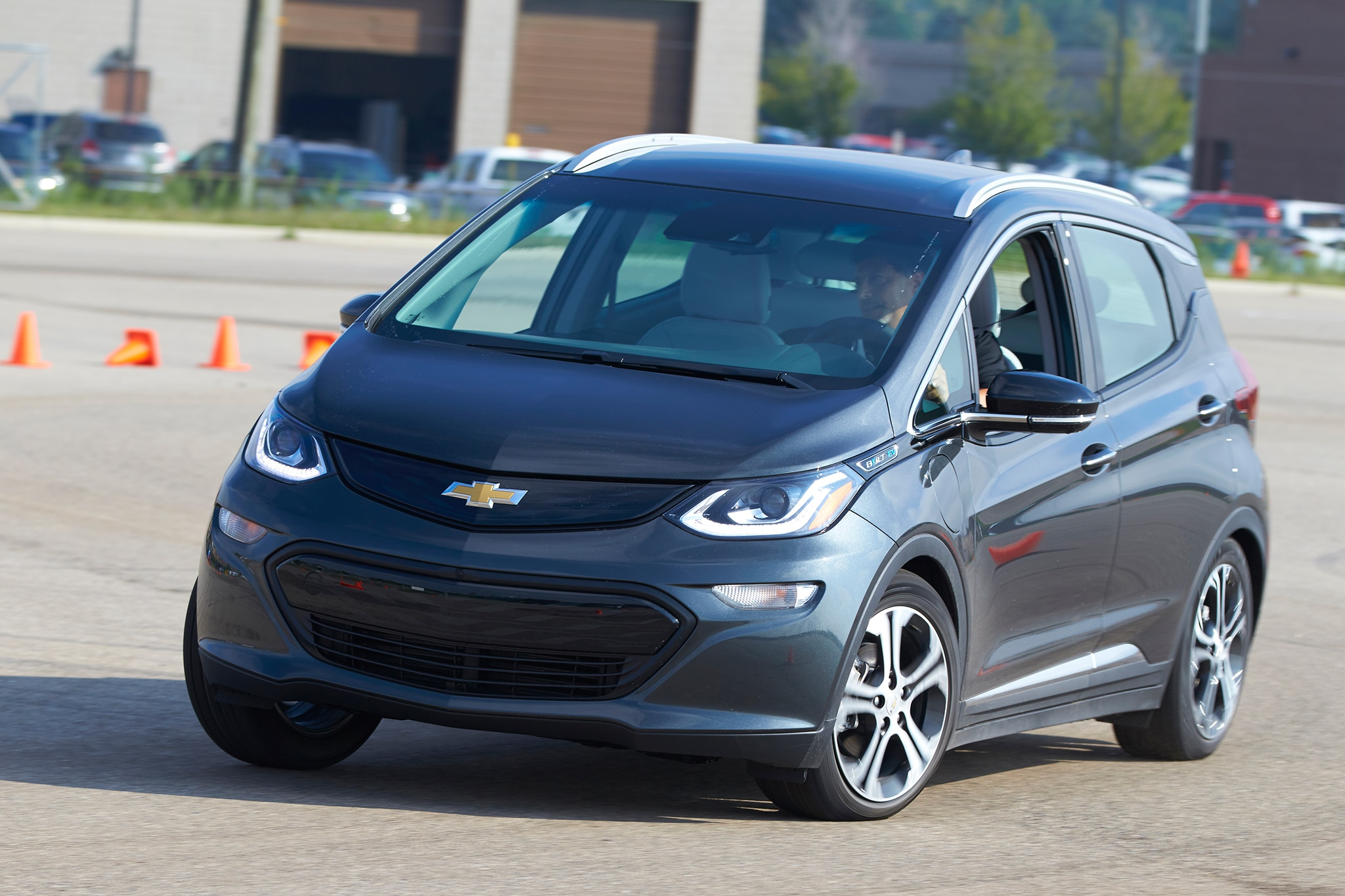 2017 Chevrolet Bolt EV Front Three Quarter In Motion 05