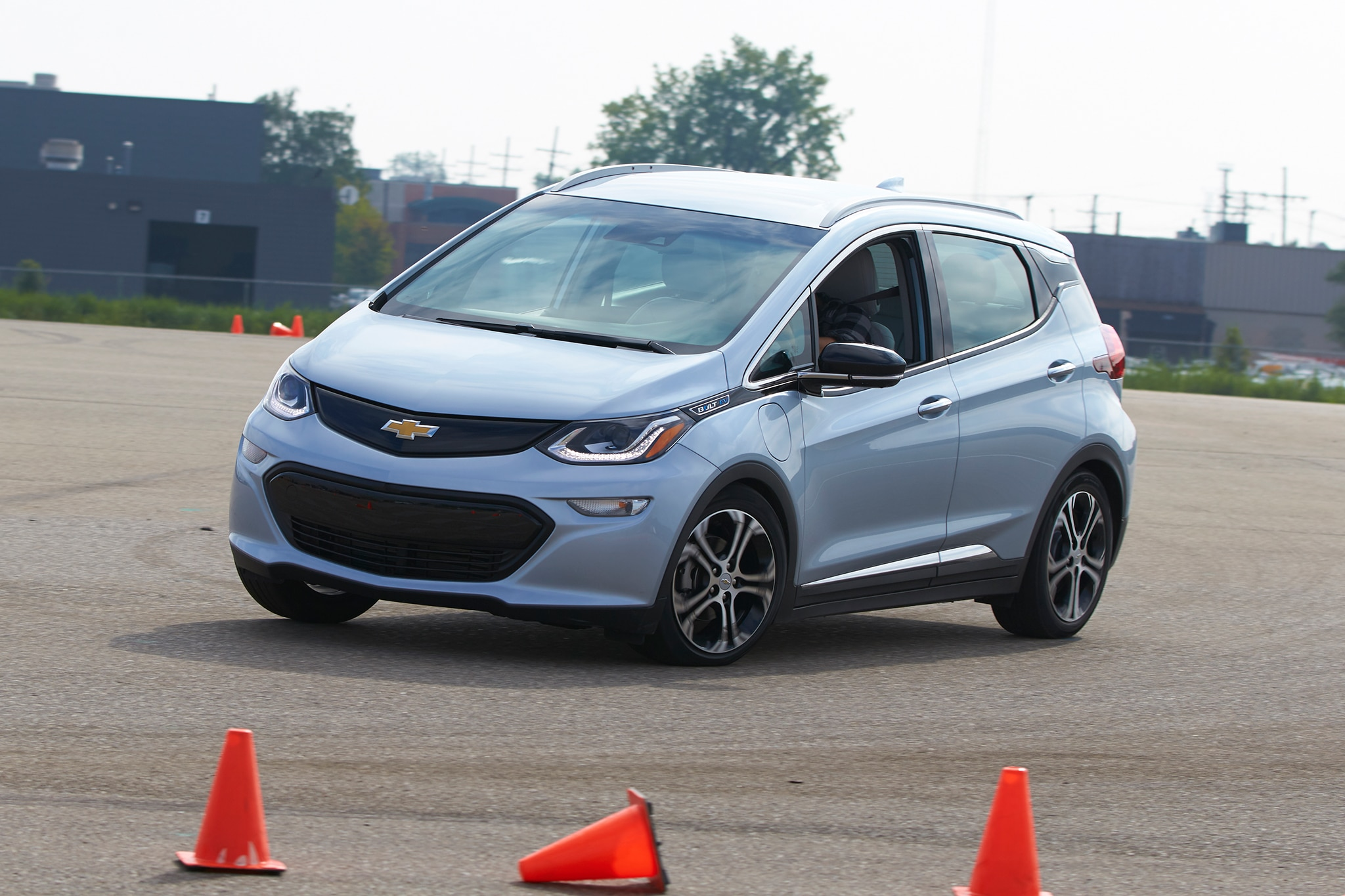 2017 Chevrolet Bolt EV Front Three Quarter In Motion 06