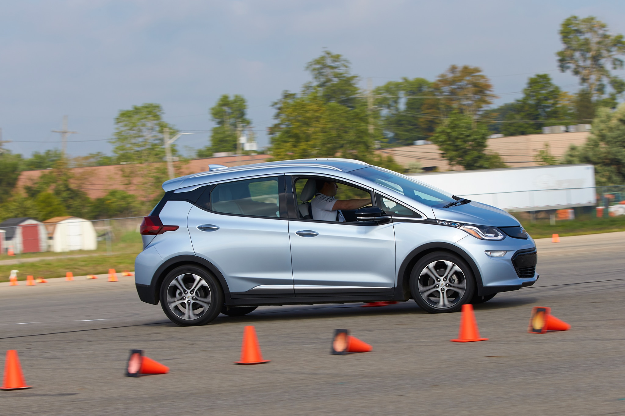 2017 Chevrolet Bolt EV Side Profile In Motion 06