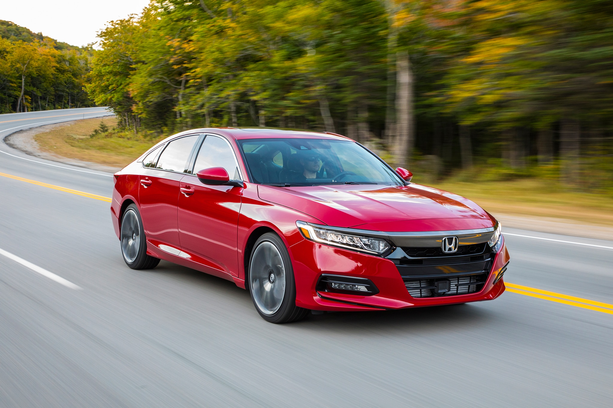 2018 Honda Accord 2 0T Sport Front Three Quarter In Motion 02