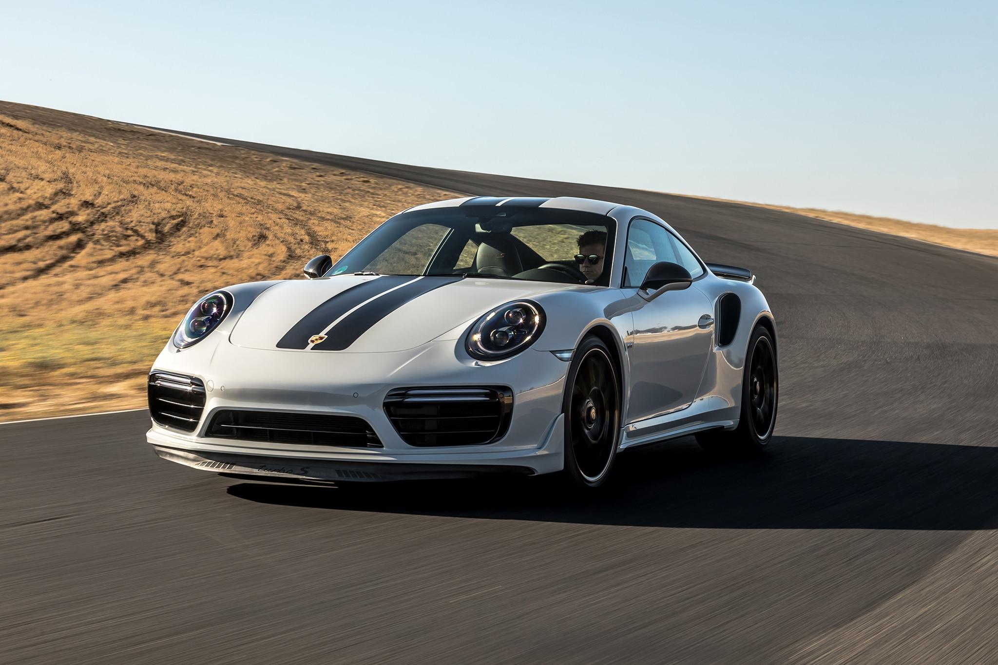 2018 Porsche 911 Turbo S Exclusive Front Three Quarter In Motion 06