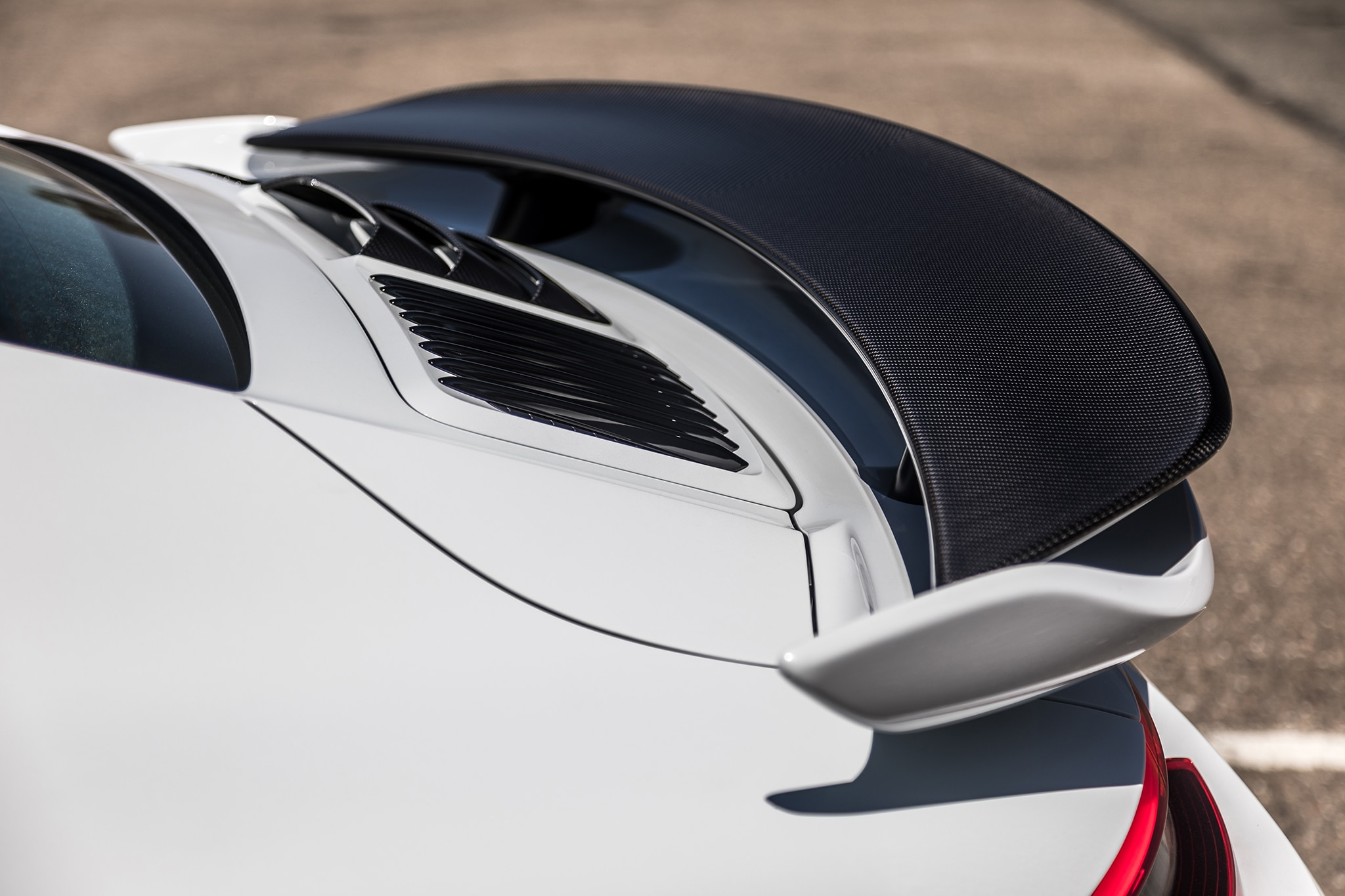 2018 Porsche 911 Turbo S Exclusive Rear Spoiler 01