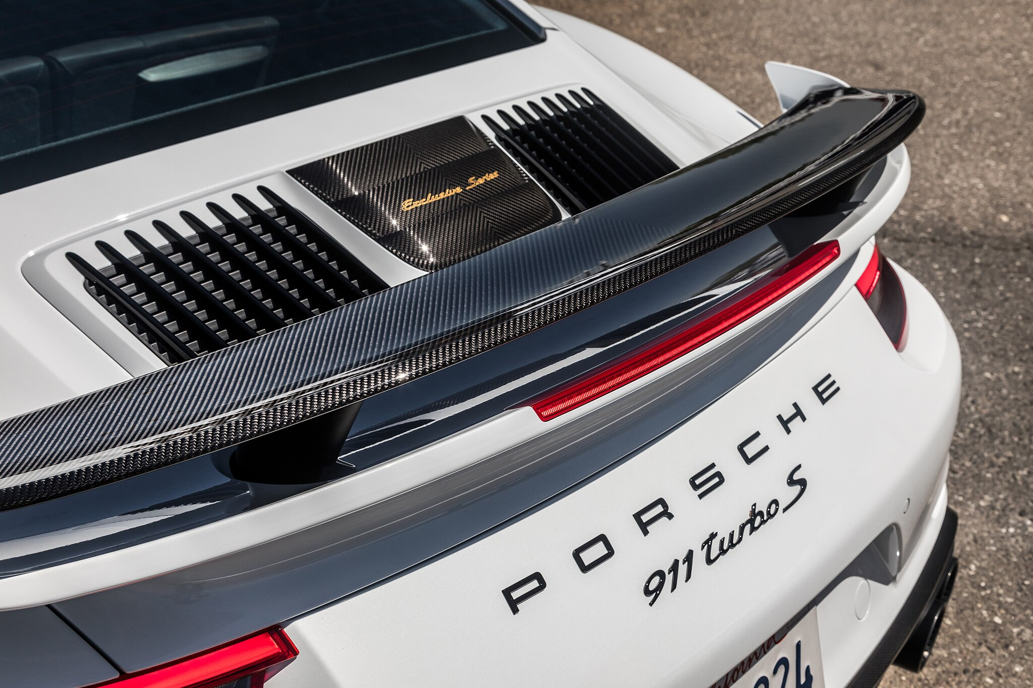 2018 Porsche 911 Turbo S Exclusive Rear Spoiler 03
