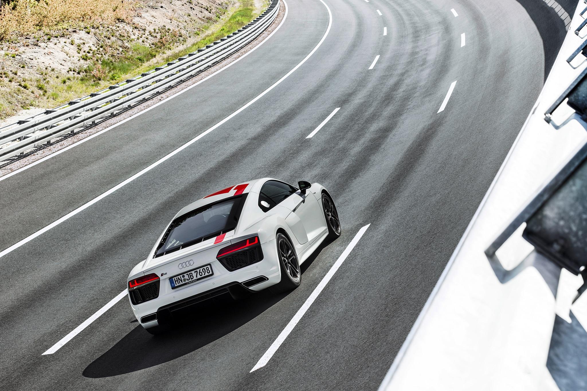 Audi R8 RWS Rear Three Quarter