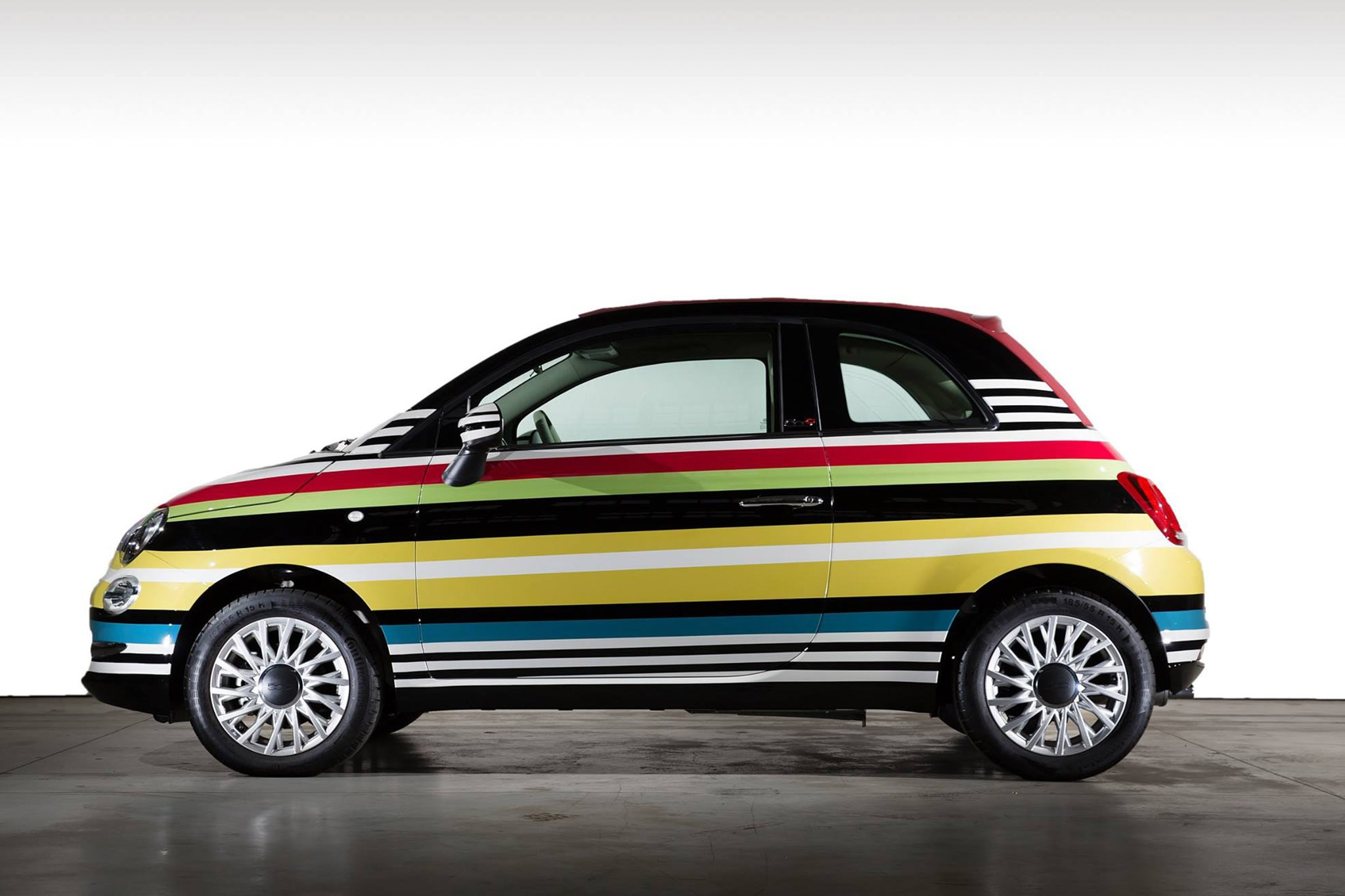 multicolored missoni inspired fiat 500c snags 59 000 for charity automobile magazine. Black Bedroom Furniture Sets. Home Design Ideas