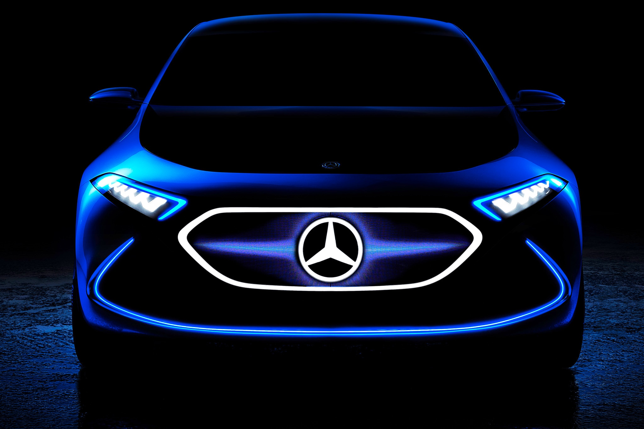 Mercedes-Benz Teases its All-Electric Hatch Concept