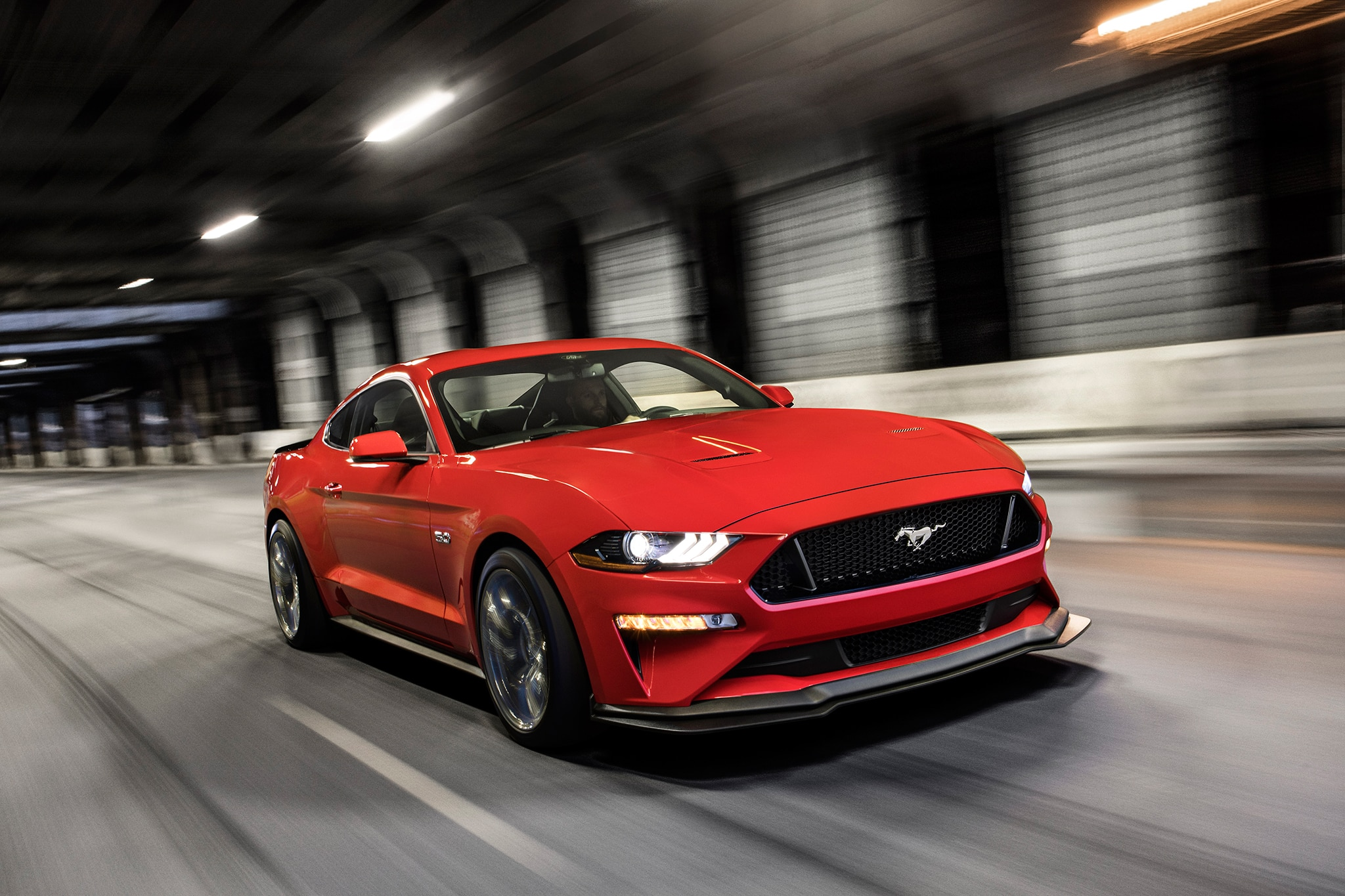 2018 Ford Mustang Performance Pack Level 2 Front Three Quarter In Motion
