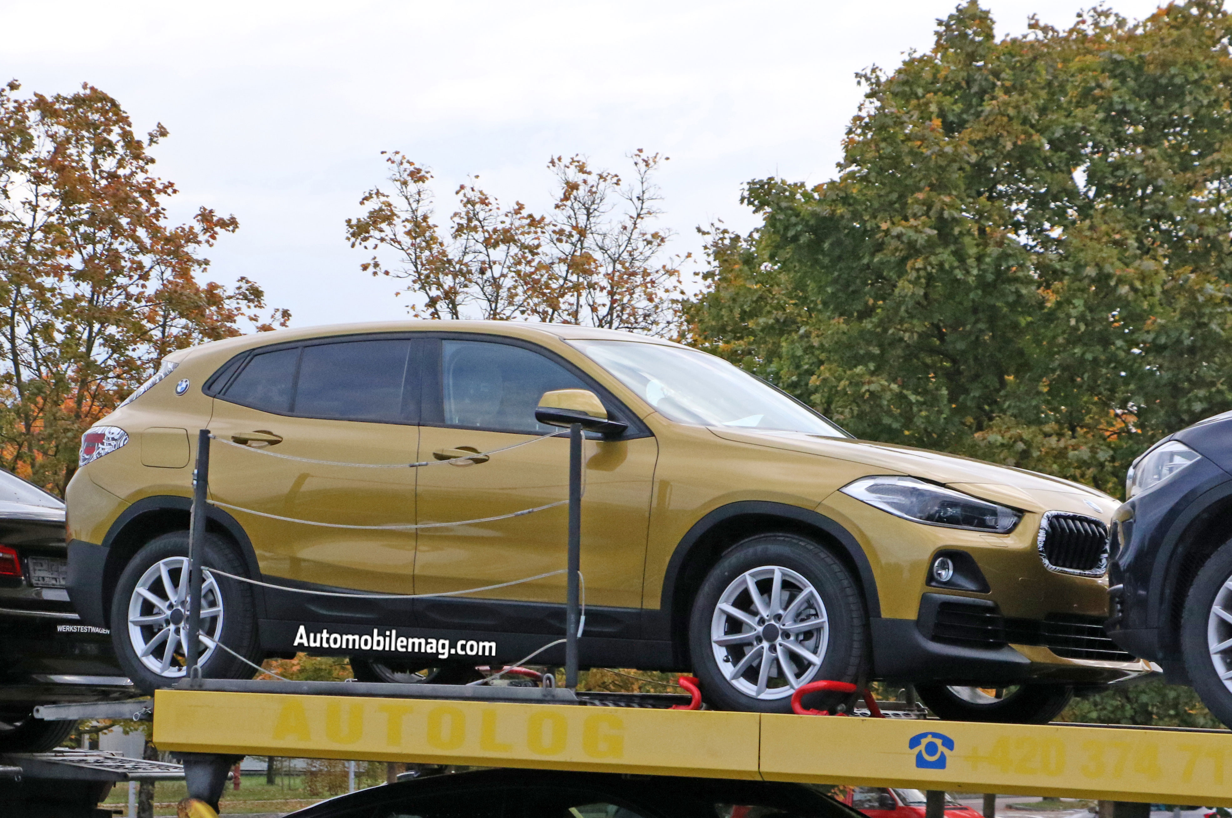 bmw x2 caught naked on a flatbed automobile magazine. Black Bedroom Furniture Sets. Home Design Ideas