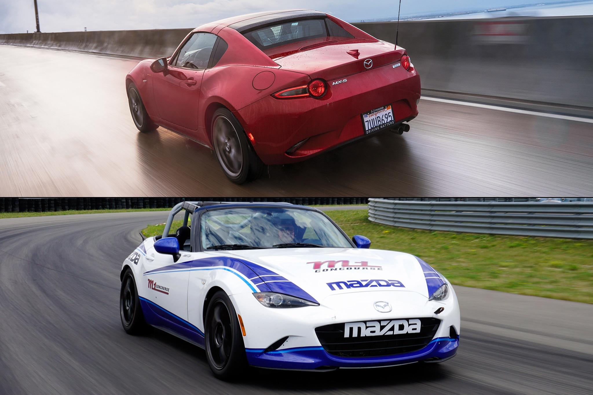 Mazda MX 5 Cup Car Vs Miata RF