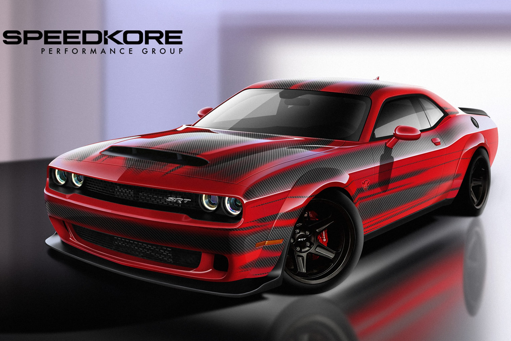 speedkore reveals dodge challenger srt demon with carbon fiber body panels automobile magazine. Black Bedroom Furniture Sets. Home Design Ideas
