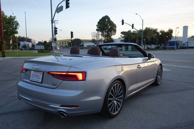Three things we love about the 2018 audi a5 cabriolet 20t quattro 1 its a convertible for starters you wont mistake this audi a5 for a chrysler sebringwell maybe at night but probably the best thing about this a5 is sciox Choice Image
