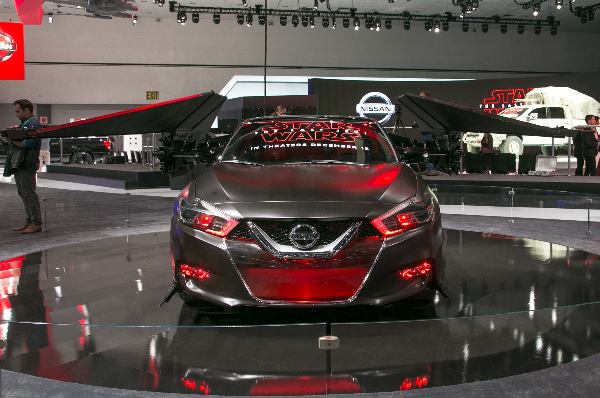 2018 Nissan Maxima Show Car Kylo Rens TIE Silencer Front 01