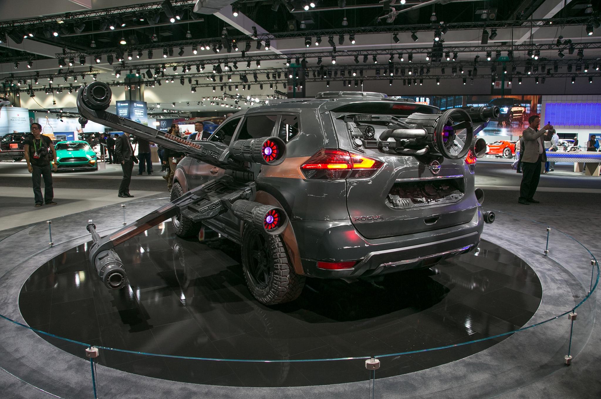 2018 Nissan Rogue Show Car Poe Damerons X Wing Rear
