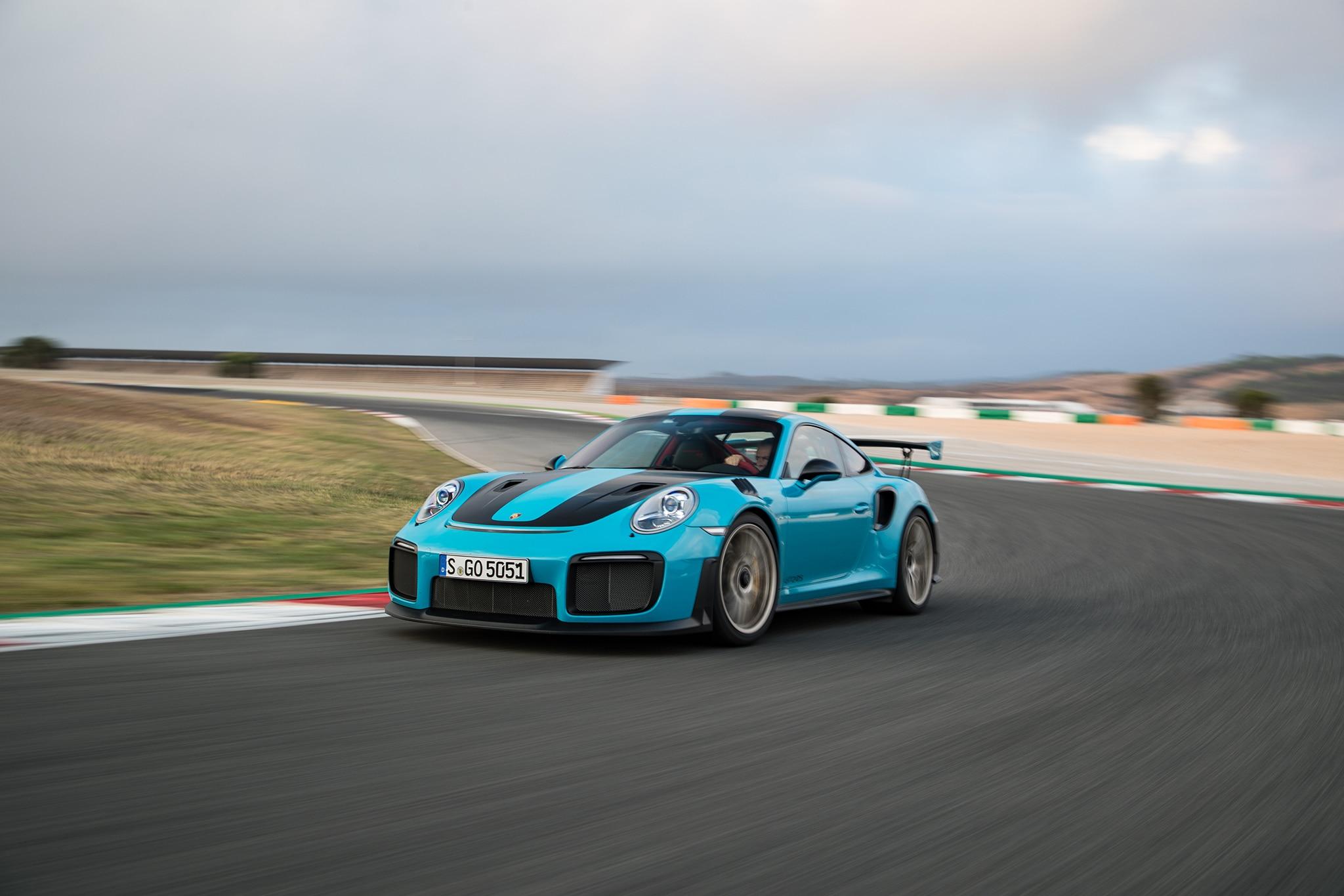 2018-Porsche-911-GT2-RS-front-three-quarter-in-motion-36 Interesting Porsche 911 Gt2 Rs Nurburgring Lap Cars Trend