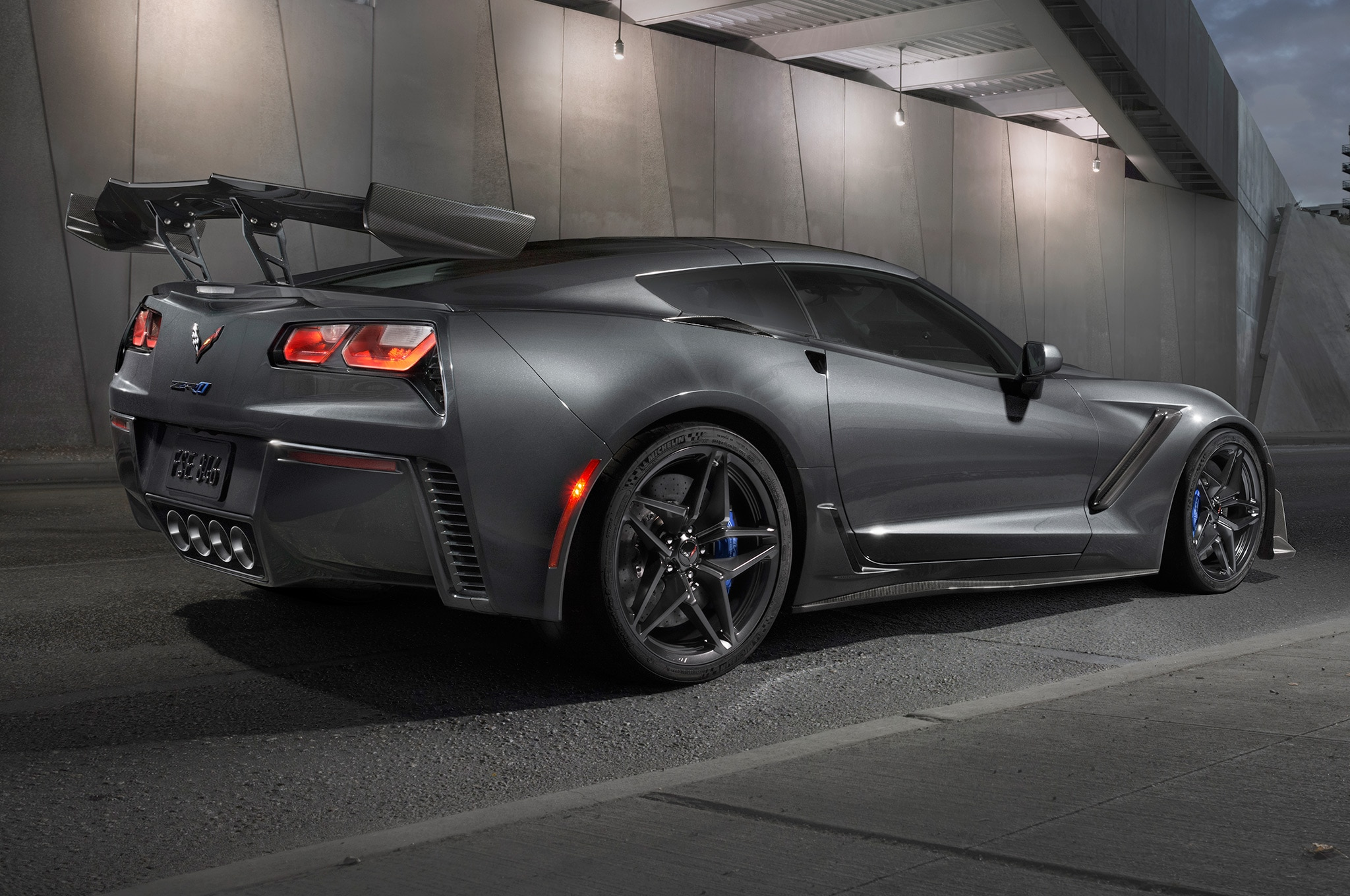 2019 Chevrolet Corvette ZR1 Rear Three Quarter High Wing