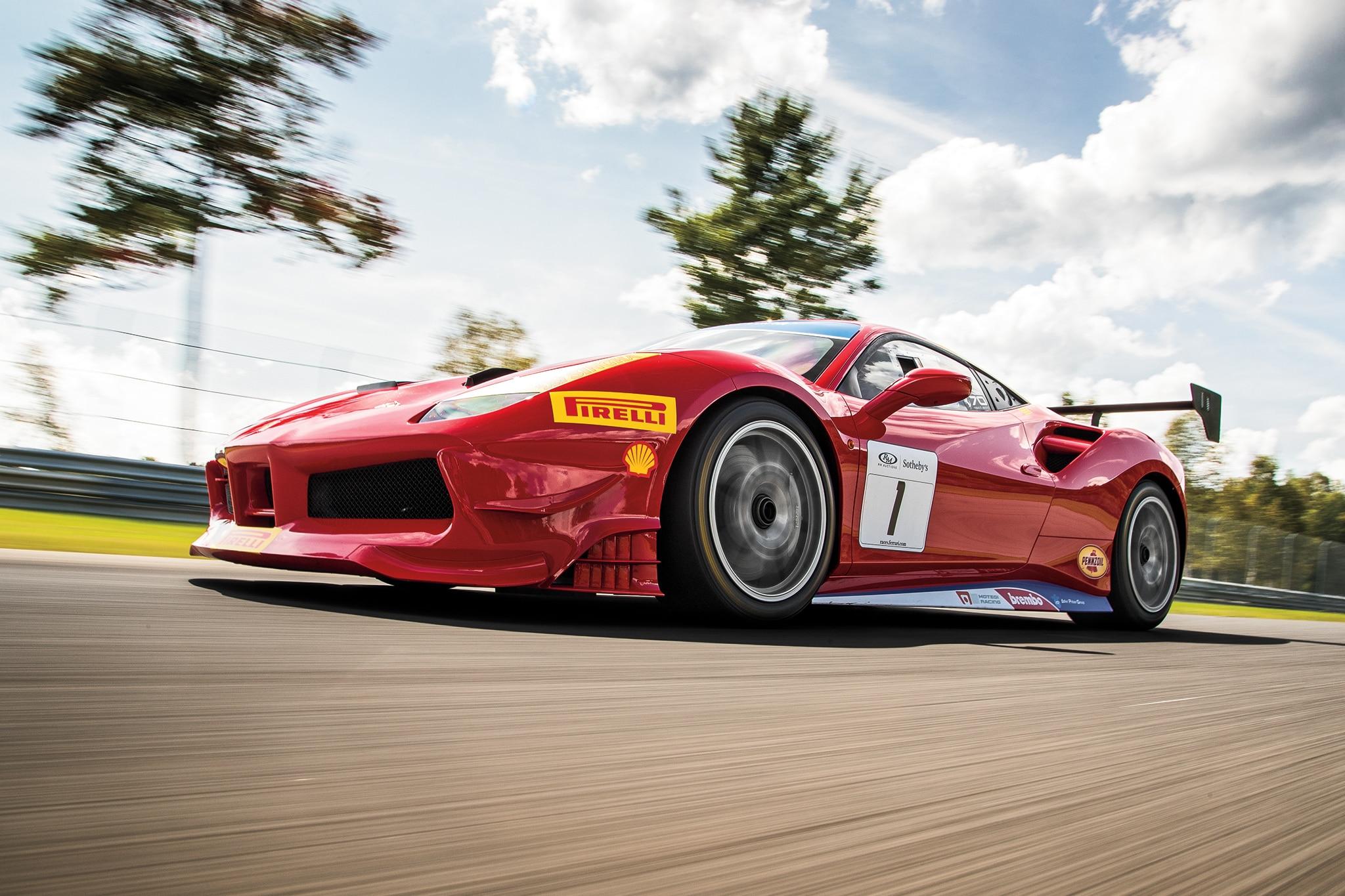 Be ing a Ferrari 488 Challenge Race Driver squib