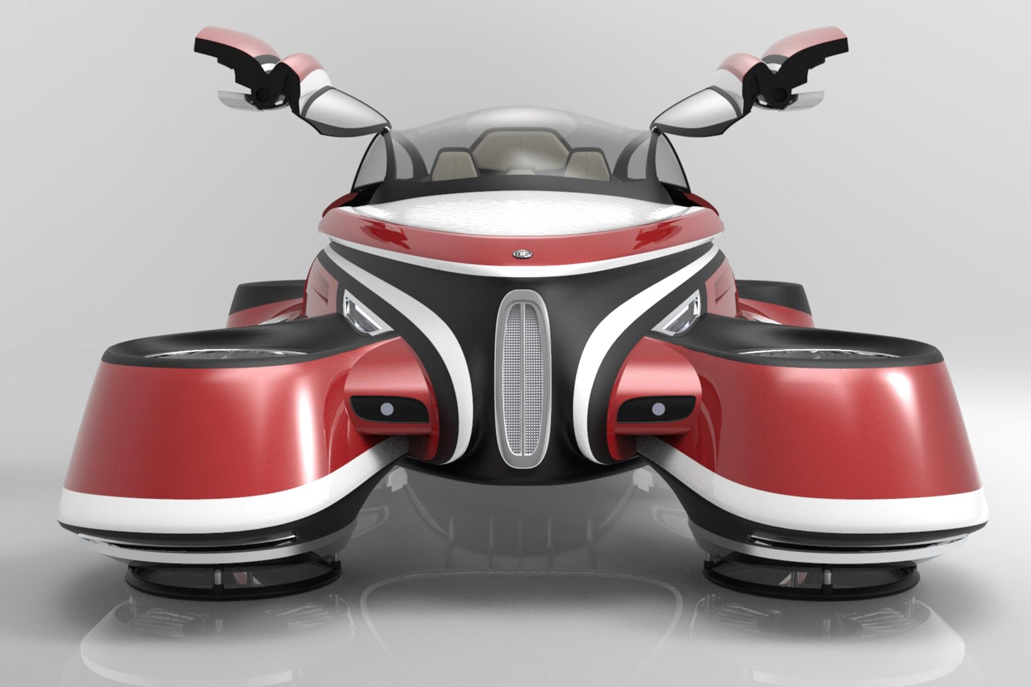 1 Lazzarini Design Hover Car Concept Front