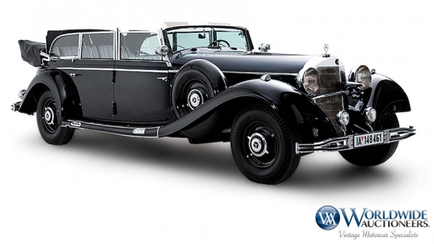 Hitler s 1939 mercedes benz goes under the hammer for Mercedes benz 770 for sale