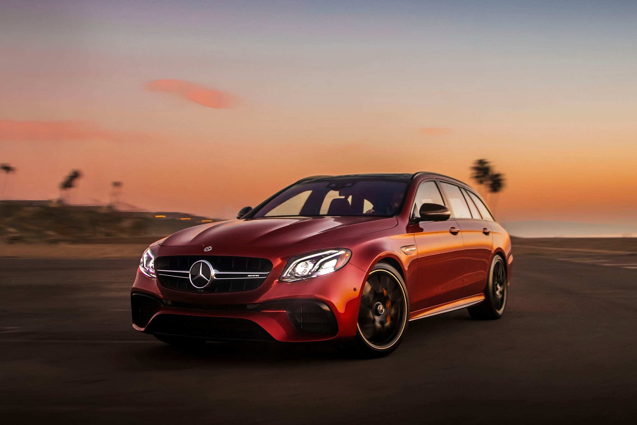 2018 Mercedes AMG E63 S Wagon Front Three Quarters 2