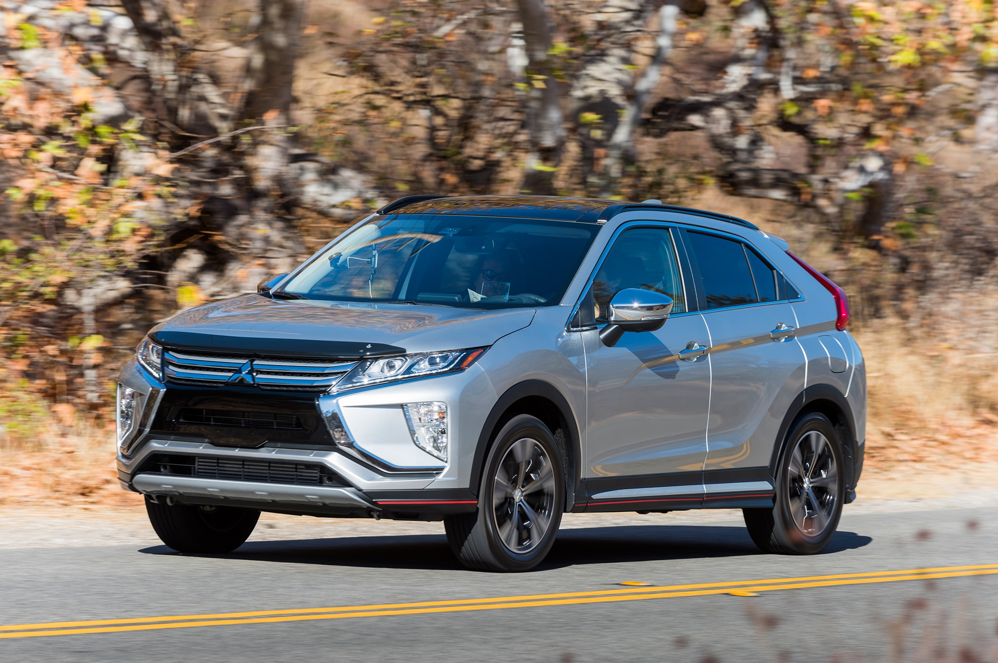 2018 Mitsubishi Eclipse Cross Front Three Quarter In Motion 01