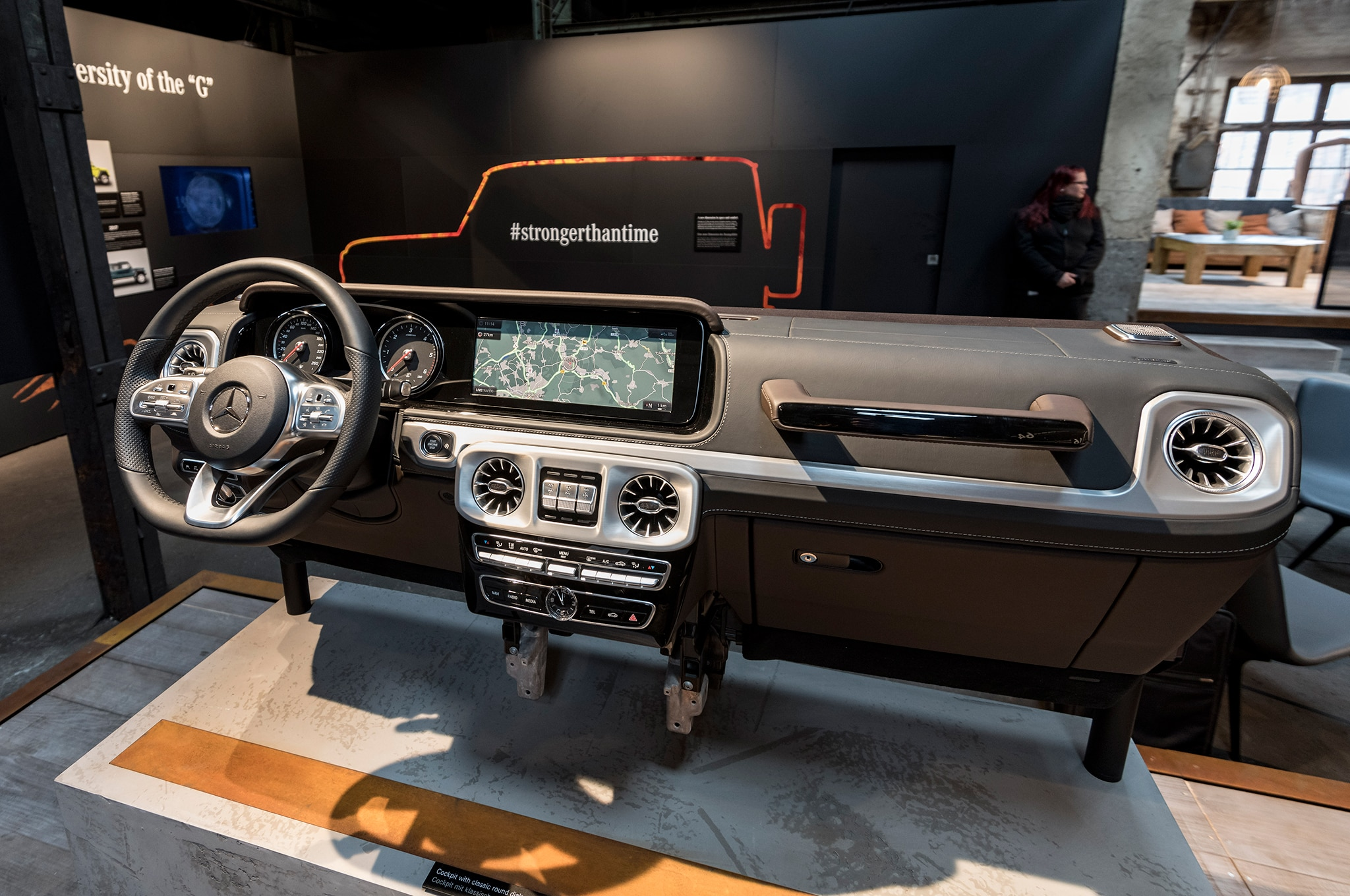 Mercedes preps 2 instrument panels for next G-class SUV