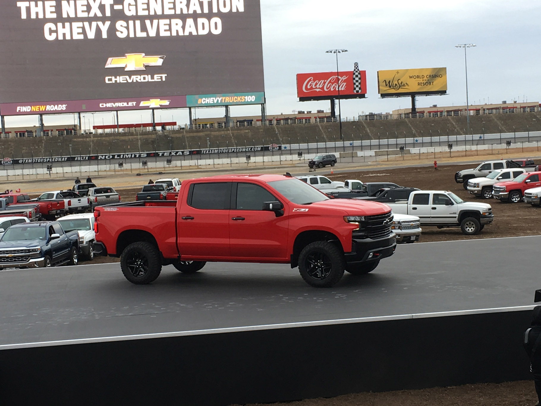 All New 2019 Chevrolet Silverado REVEALED 1 54 56 PM 1 2019 chevrolet silverado revealed via helicopter in texas